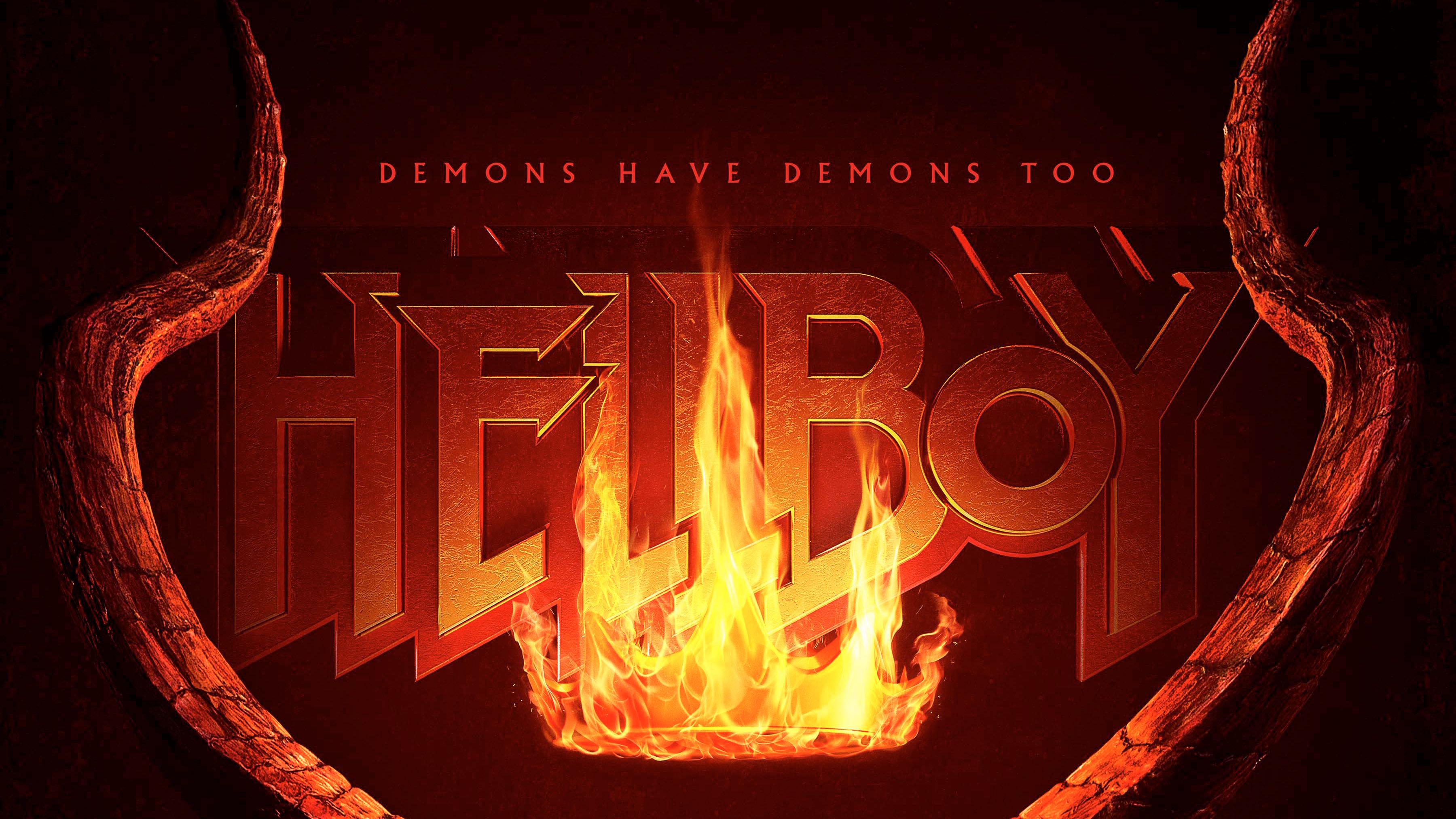 hellboy 2019 movie logo 1545866177 - Hellboy 2019 Movie Logo 4k - movies wallpapers, logo wallpapers, hellboy wallpapers, hd-wallpapers, 4k-wallpapers, 2019 movies wallpapers