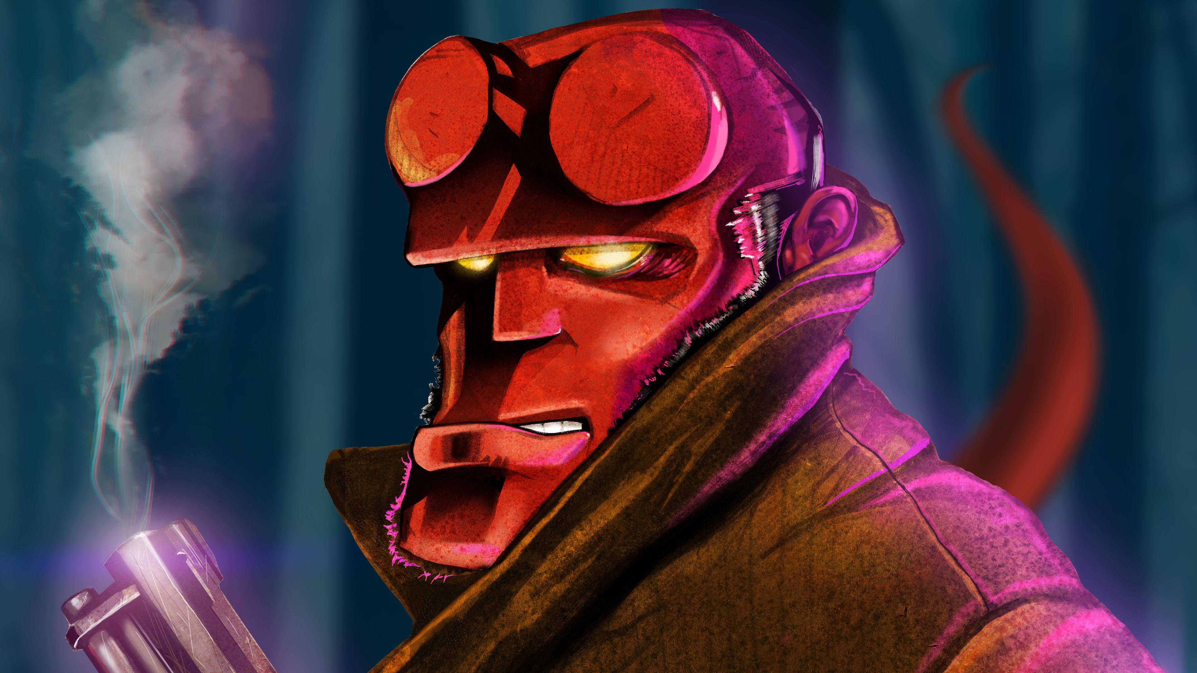 hellboy 4k 1544923151 - Hellboy 4k - superheroes wallpapers, hellboy wallpapers, hd-wallpapers, artwork wallpapers, 4k-wallpapers