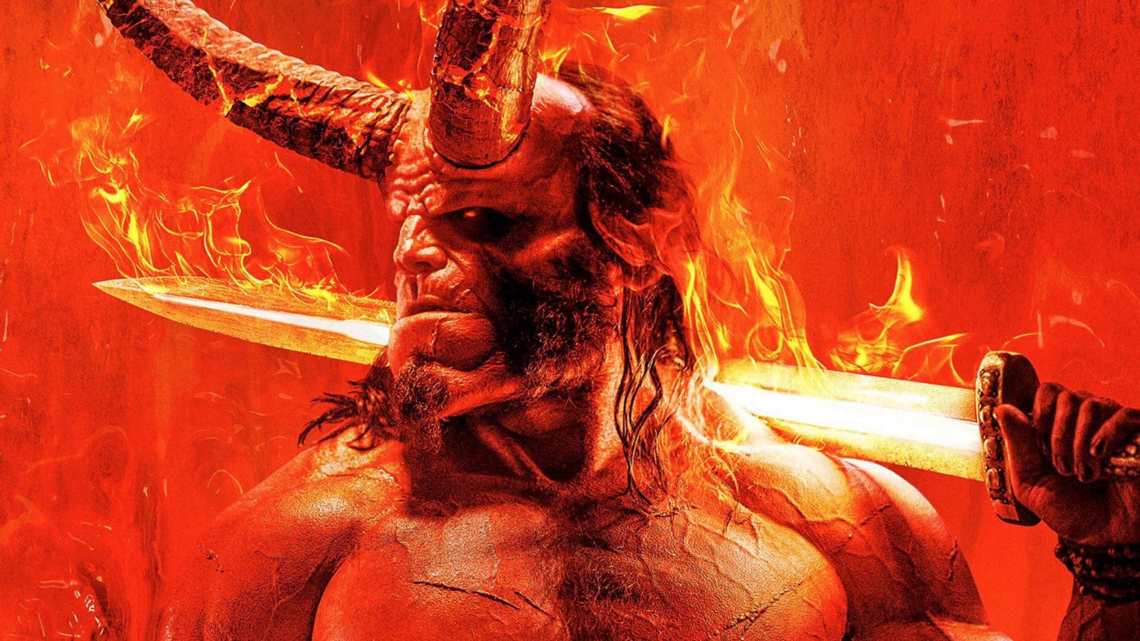 hellboy movie 2019 poster 1l 3840x2160 - Hellboy Movie 2019 Art 4k - hellboy wallpapers hd 4k new, Hellboy hd wallpapers, hellboy hd 4k wallpapers, hellboy art hd 4k wallpapers, hellboy art hd 4k, hellboy 2019 wallpapers hd 4k