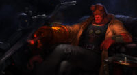 hellboy with bike art h2 3840x2160 200x110 - Hellboy Art 4k - hellboy wallpapers hd 4k new, Hellboy hd wallpapers, hellboy hd 4k wallpapers, hellboy art hd 4k wallpapers, hellboy art hd 4k, hellboy 2019 wallpapers hd 4k