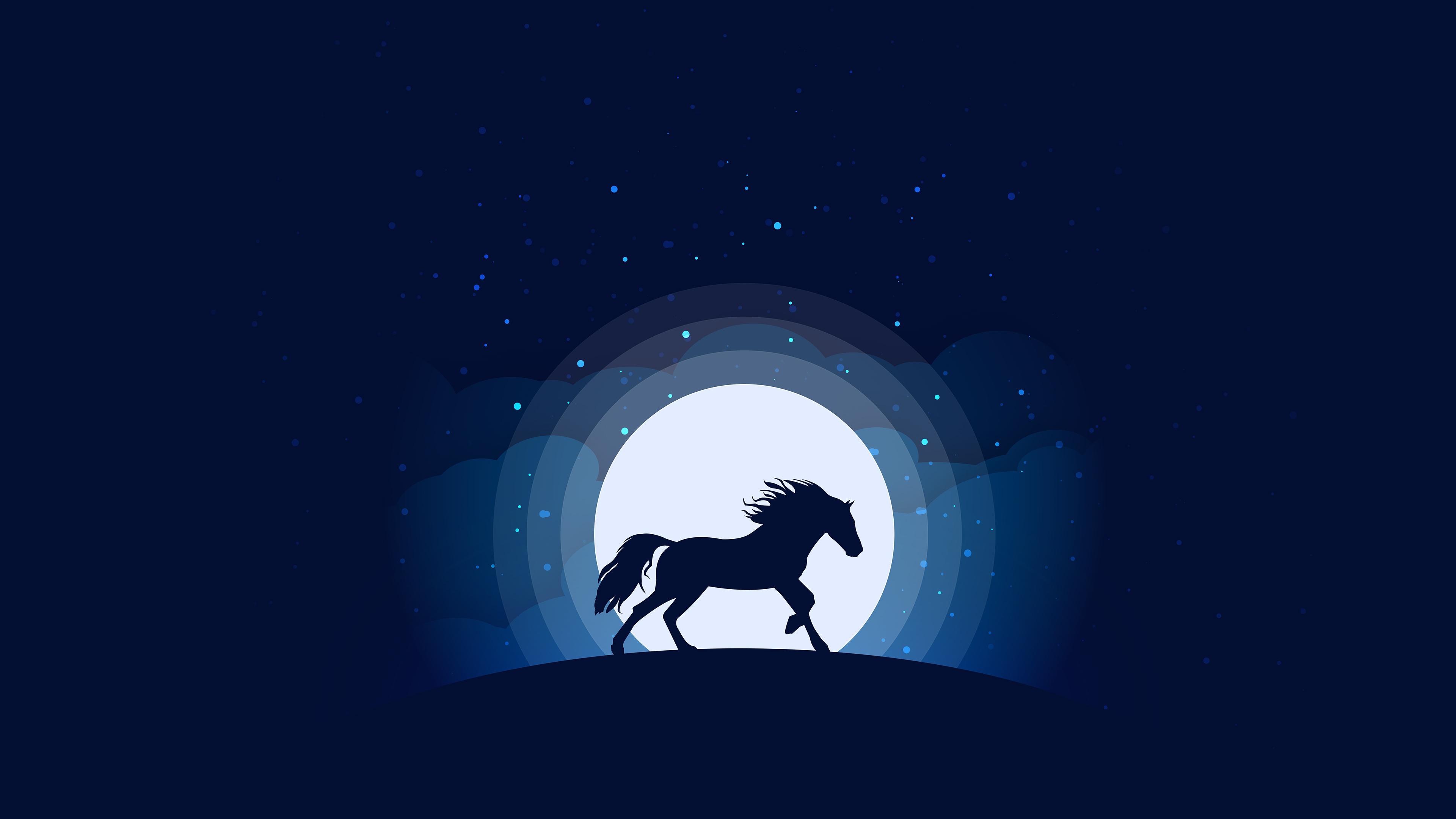 horse silhouette digital art 4k 1546279466 - Horse Silhouette Digital Art 4k - silhouette wallpapers, horse wallpapers, hd-wallpapers, digital art wallpapers, behance wallpapers, artwork wallpapers, artist wallpapers, animals wallpapers
