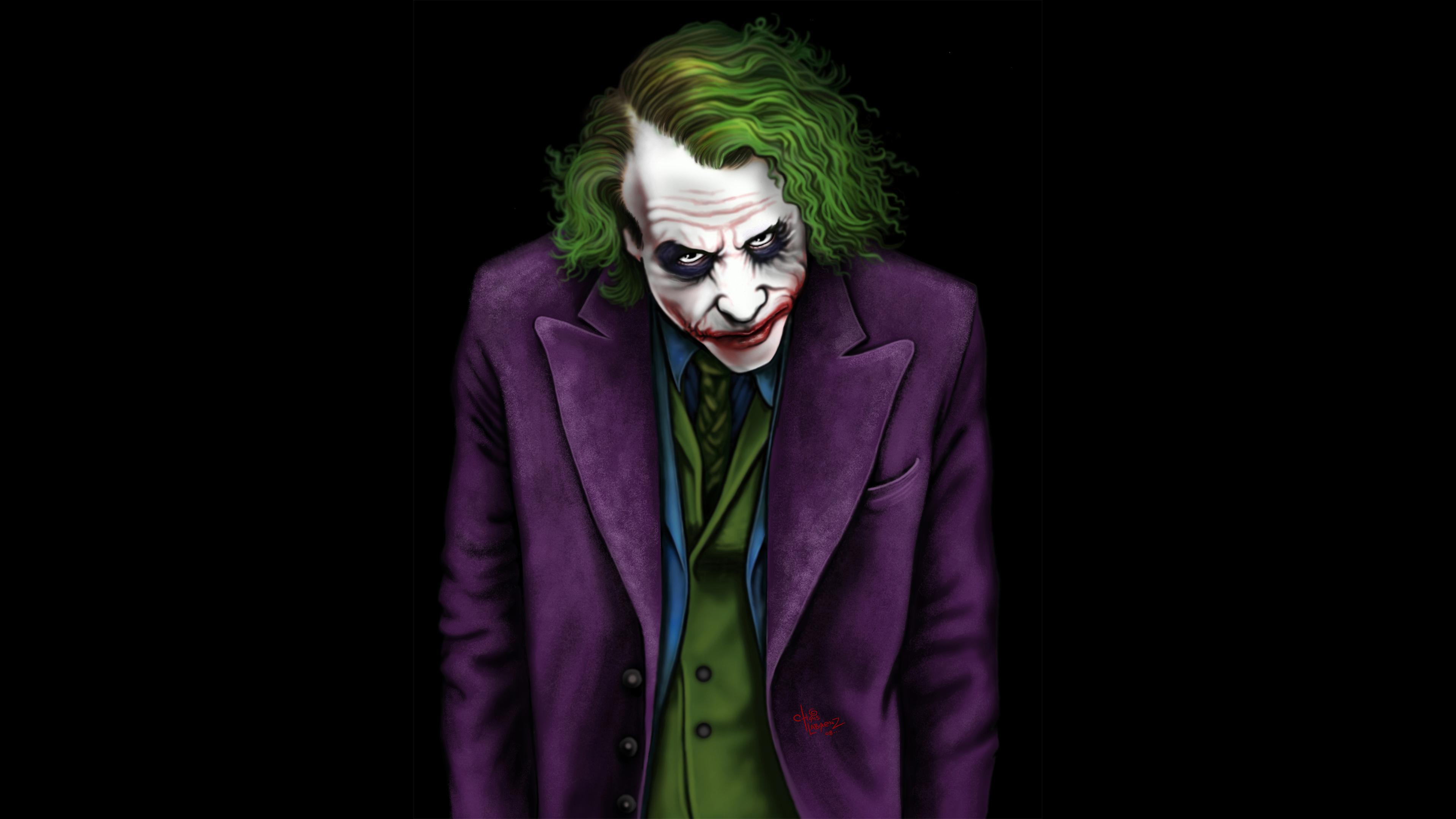 joker heath ledger artwork 4k 1544286909 - Joker Heath Ledger Artwork 4k - supervillain wallpapers, superheroes wallpapers, joker wallpapers, hd-wallpapers, digital art wallpapers, deviantart wallpapers, artwork wallpapers, artist wallpapers