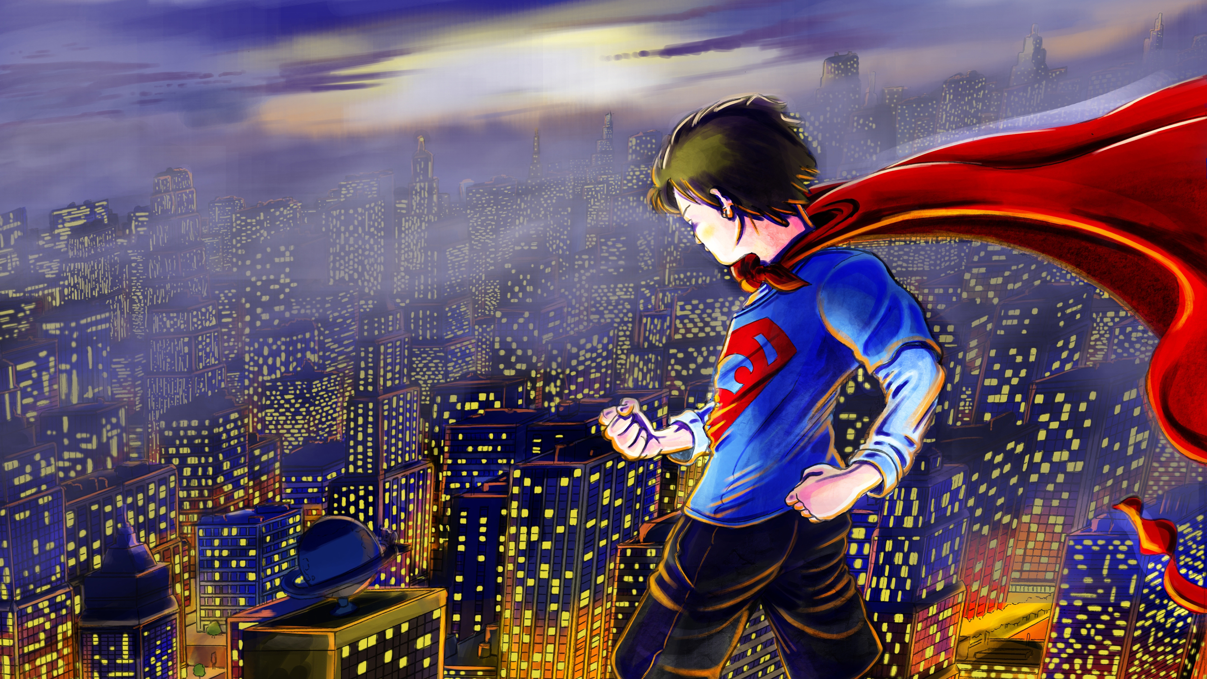 kid superman art 4k 1544286914 - Kid Superman art 4k - superman wallpapers, superheroes wallpapers, hd-wallpapers, digital art wallpapers, behance wallpapers, artwork wallpapers, 4k-wallpapers