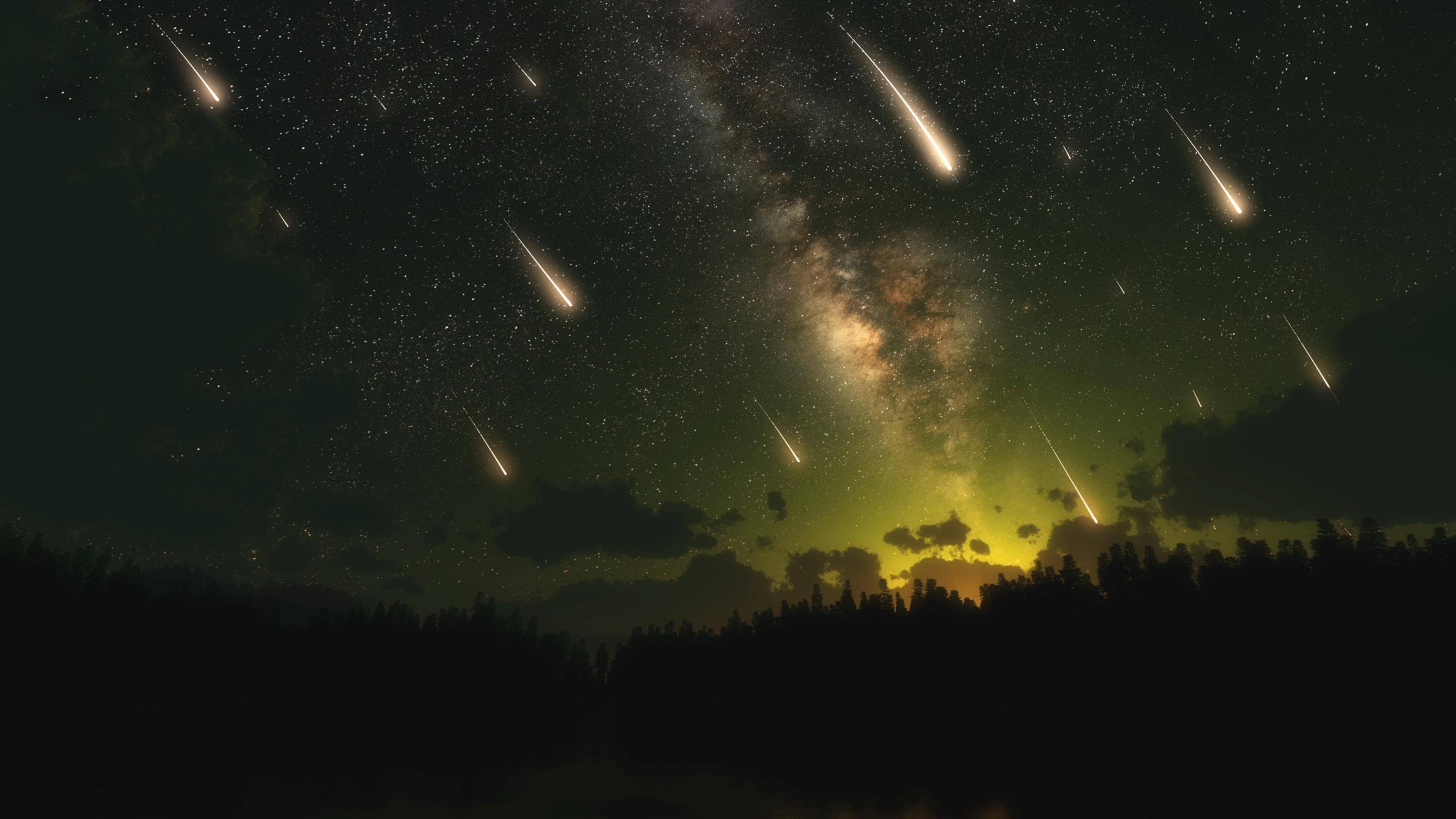 meteors dark night 4k 1546278809 - Meteors Dark Night 4k - night wallpapers, meteors wallpapers, dark wallpapers