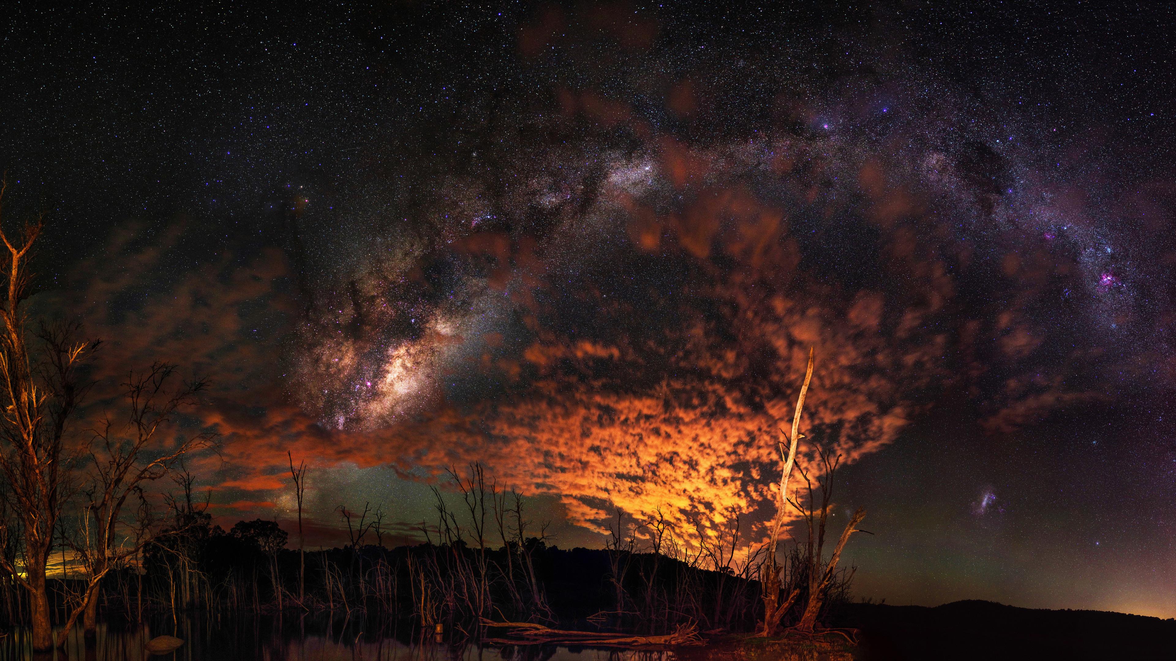 Milky Way 4k Stars Wallpapers Sky Wallpapers Scifi