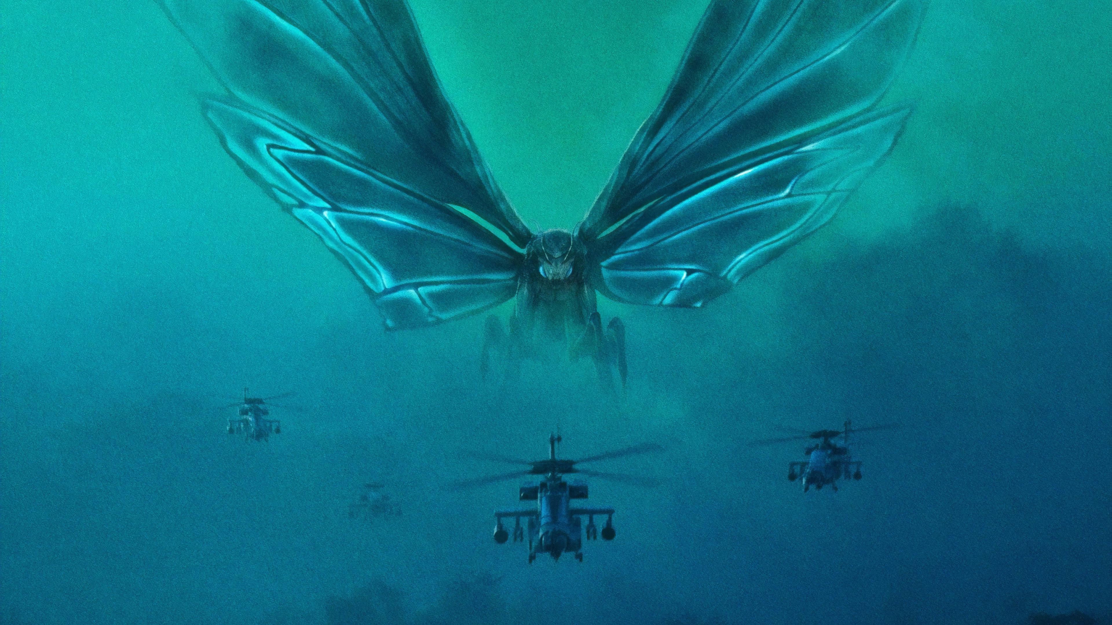 Wallpaper 4k Mothra Godzilla King Of The Monsters 4k 2019 Movies