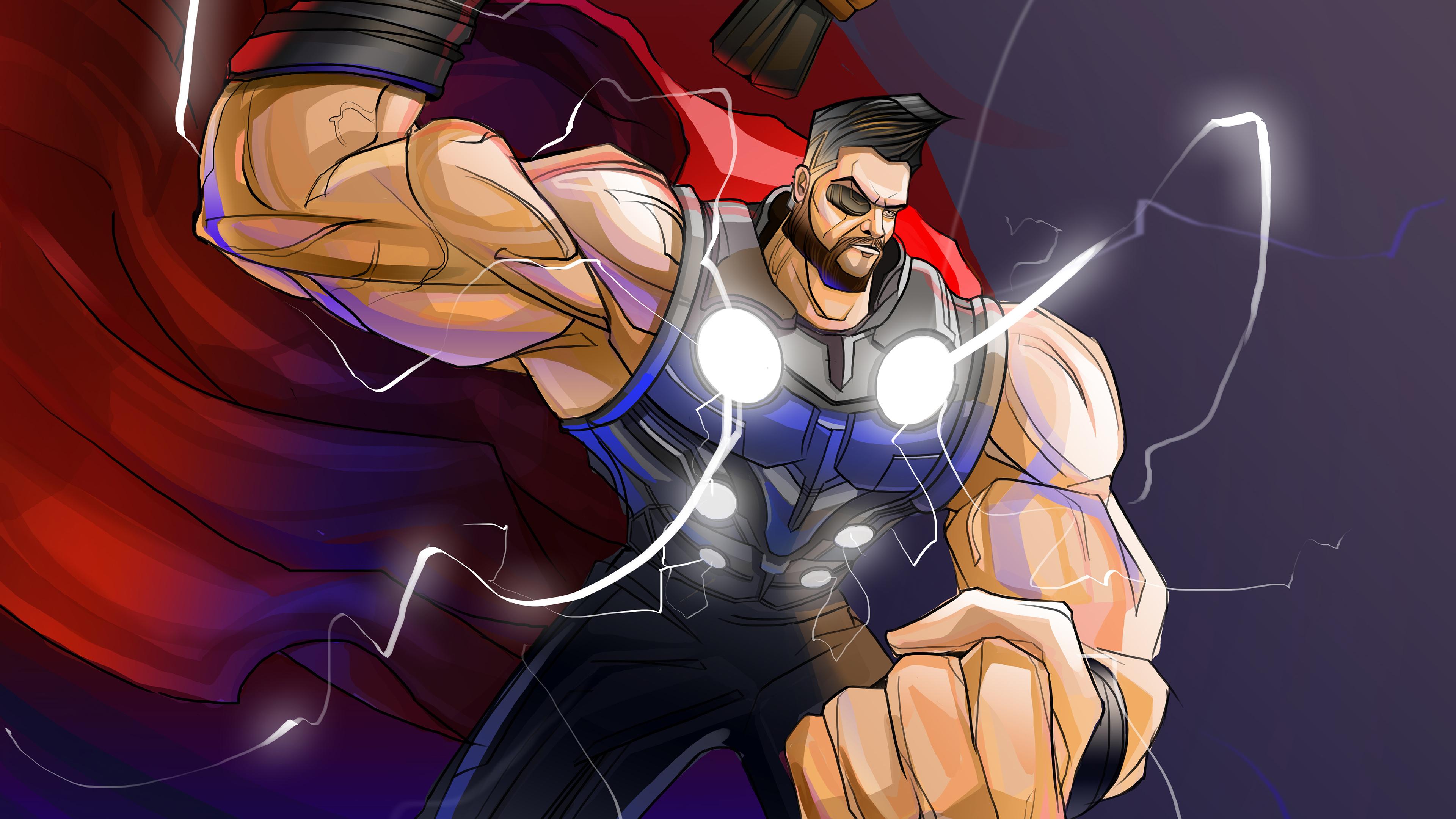 muscular thor 4k 1544286766 - Muscular Thor 4k - thor wallpapers, superheroes wallpapers, hd-wallpapers, digital art wallpapers, behance wallpapers, artwork wallpapers, 4k-wallpapers
