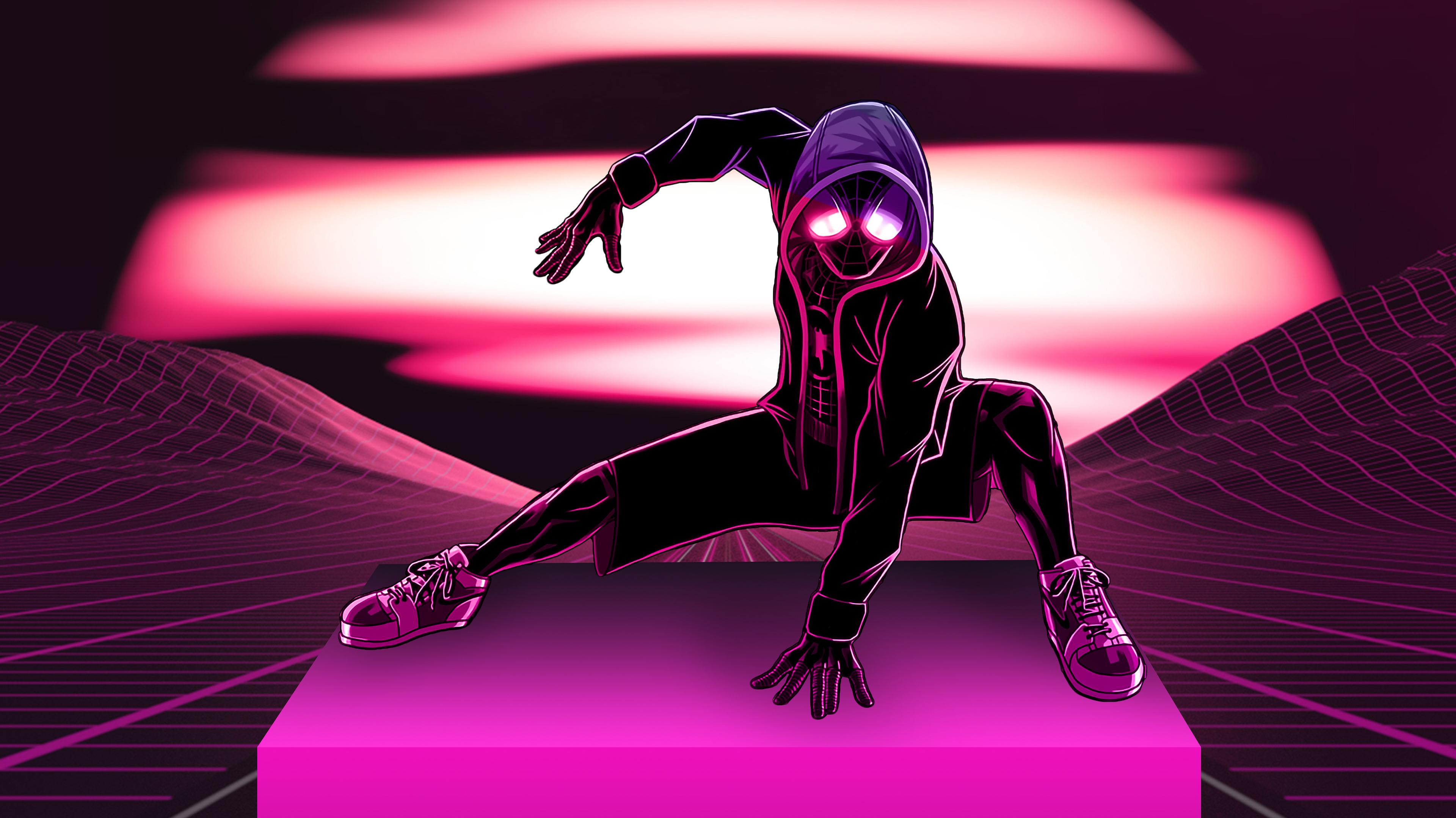 neon spider man 4k 1546276356 - Neon Spider Man 4k - superheroes wallpapers, spiderman wallpapers, spiderman into the spider verse wallpapers, retrowave wallpapers, hd-wallpapers, digital art wallpapers, behance wallpapers, artwork wallpapers, artist wallpapers, 4k-wallpapers