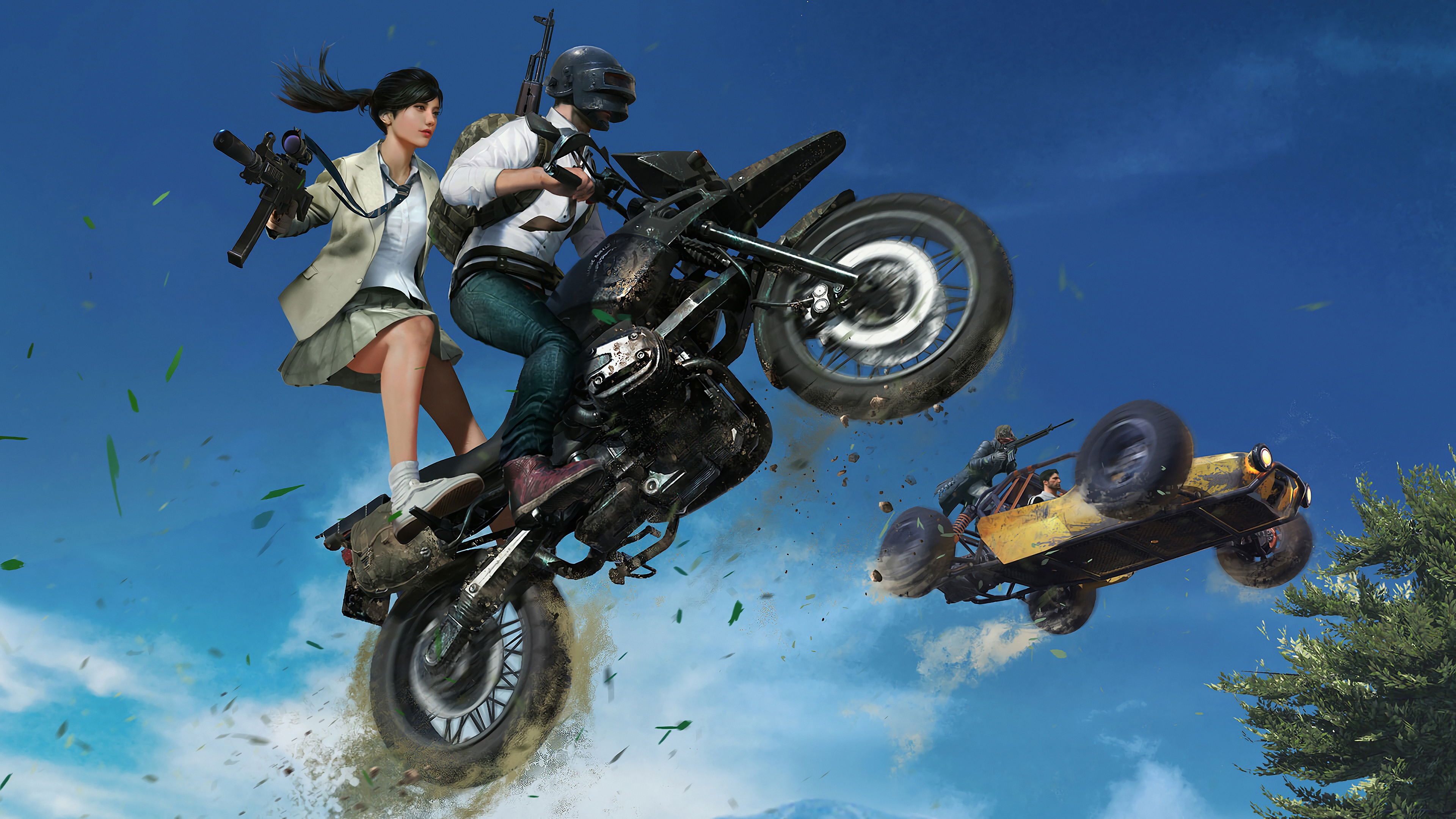 Pubg Wallpaper Phone: Player Unknown's Battlegrounds (PUBG) 4K Bike Girl Pubg