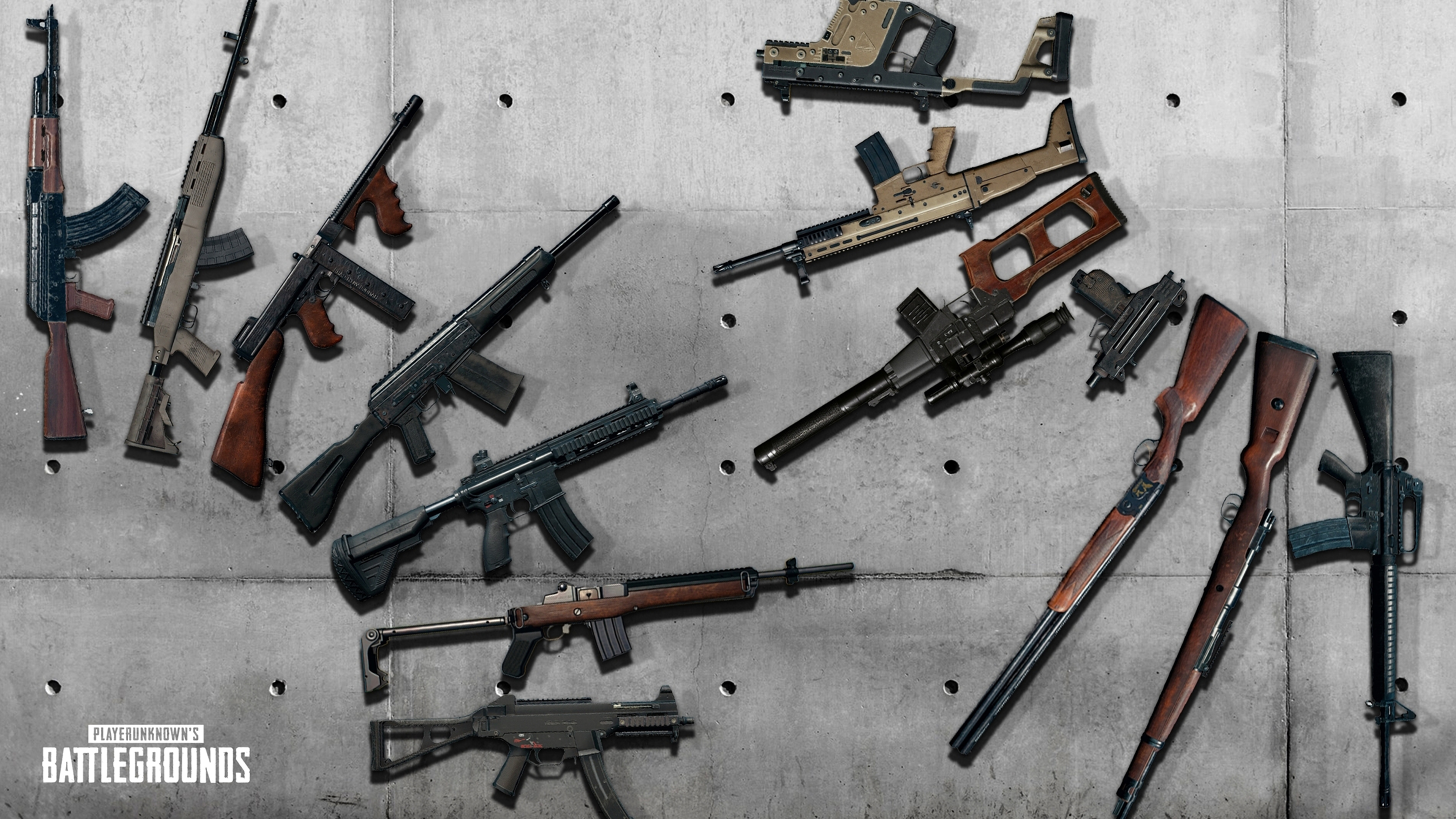 Pubg Sanhok Wallpaper 4k: PUBG Rifles Weapons PlayerUnknown's Battlegrounds 4K