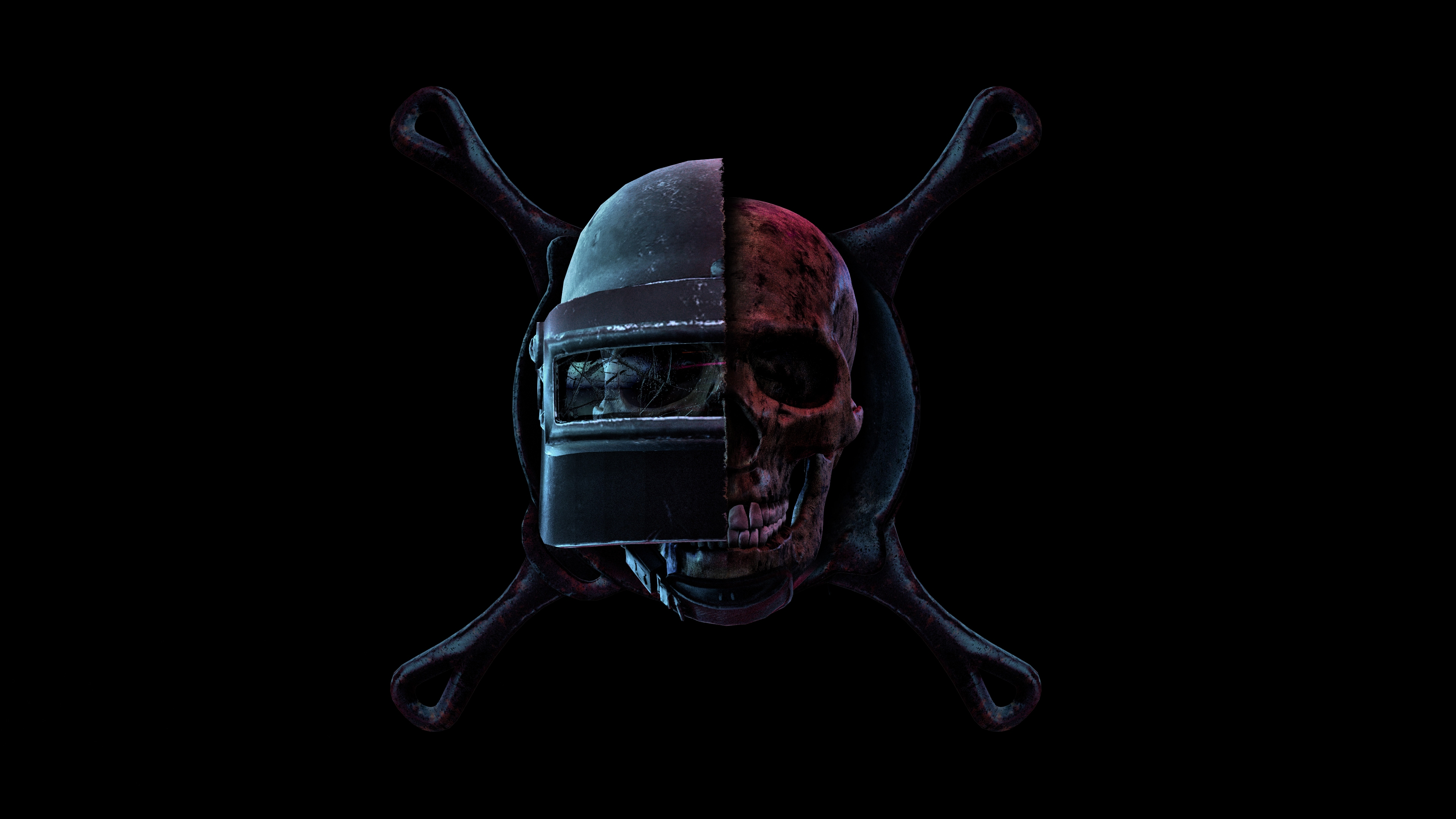 Wallpaper 4k Pubg Skull Helmet Pan Playerunknown S