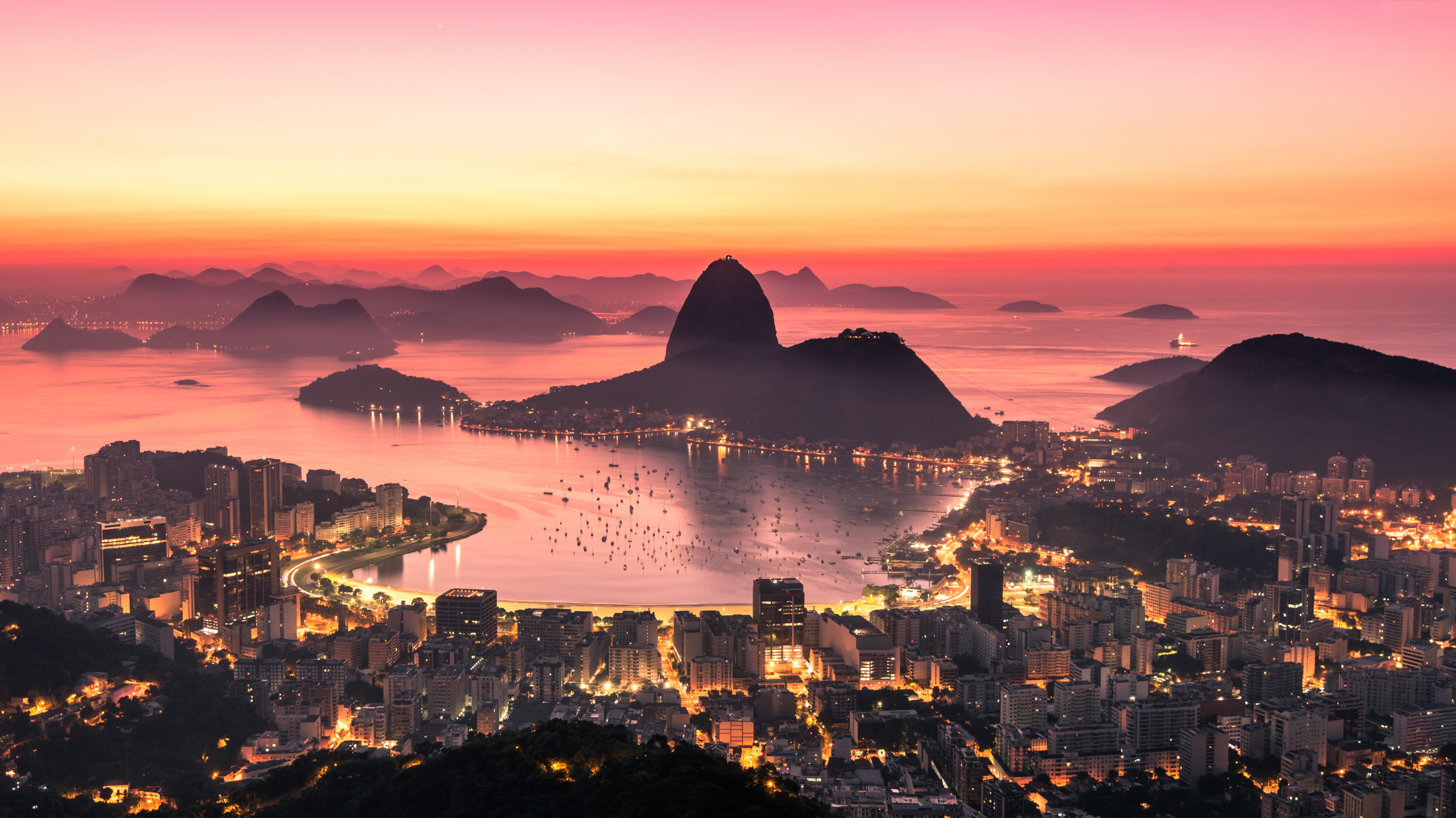 rio de janeiro sunrise 4k 1546277756 - Rio De Janeiro Sunrise 4k - world wallpapers, sunrise wallpapers, rio de janeiro wallpapers, hd-wallpapers, 4k-wallpapers