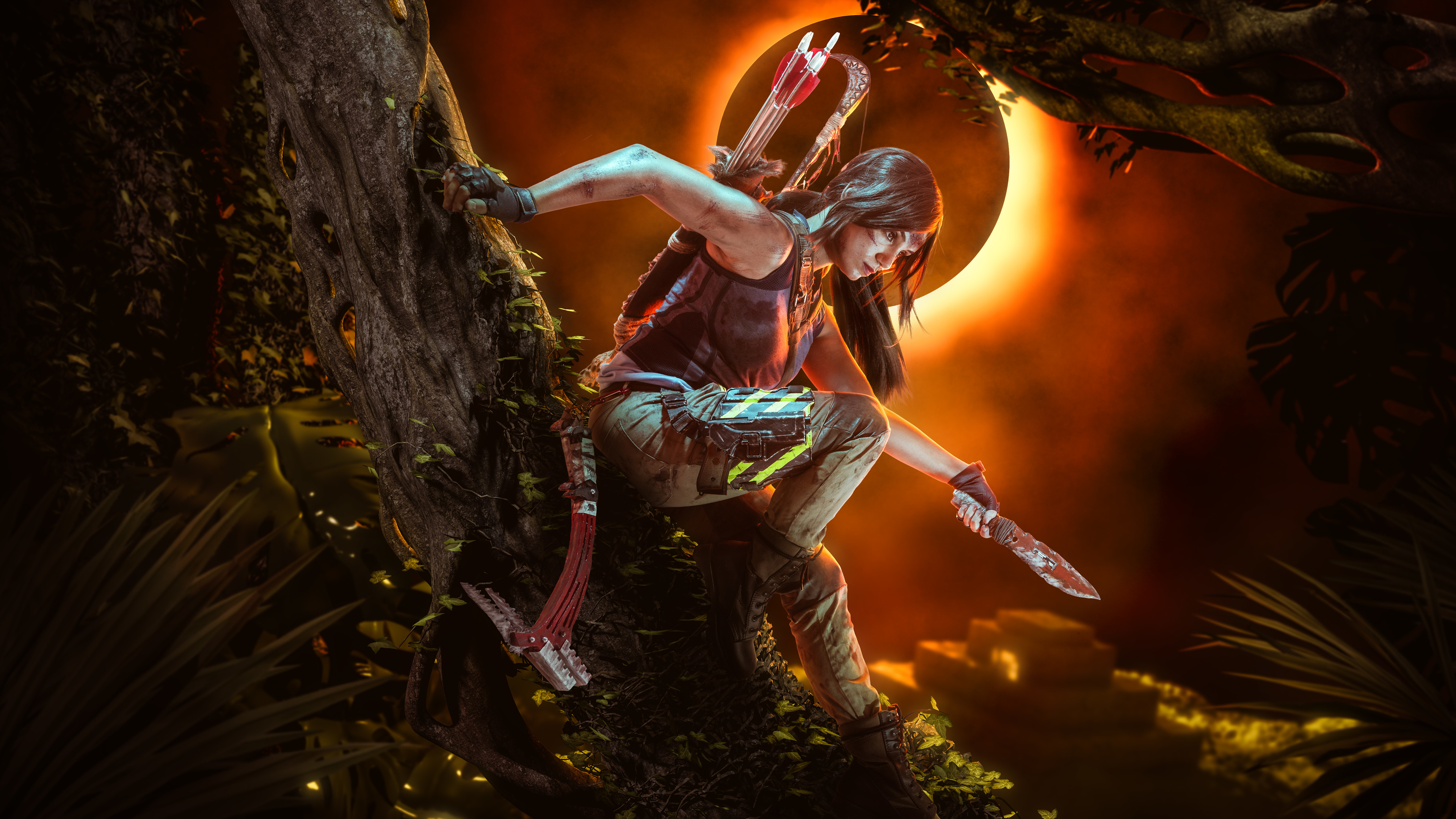 Wallpaper 4k Shadow Of The Tomb Raider Cosplay 5k 2018 Games