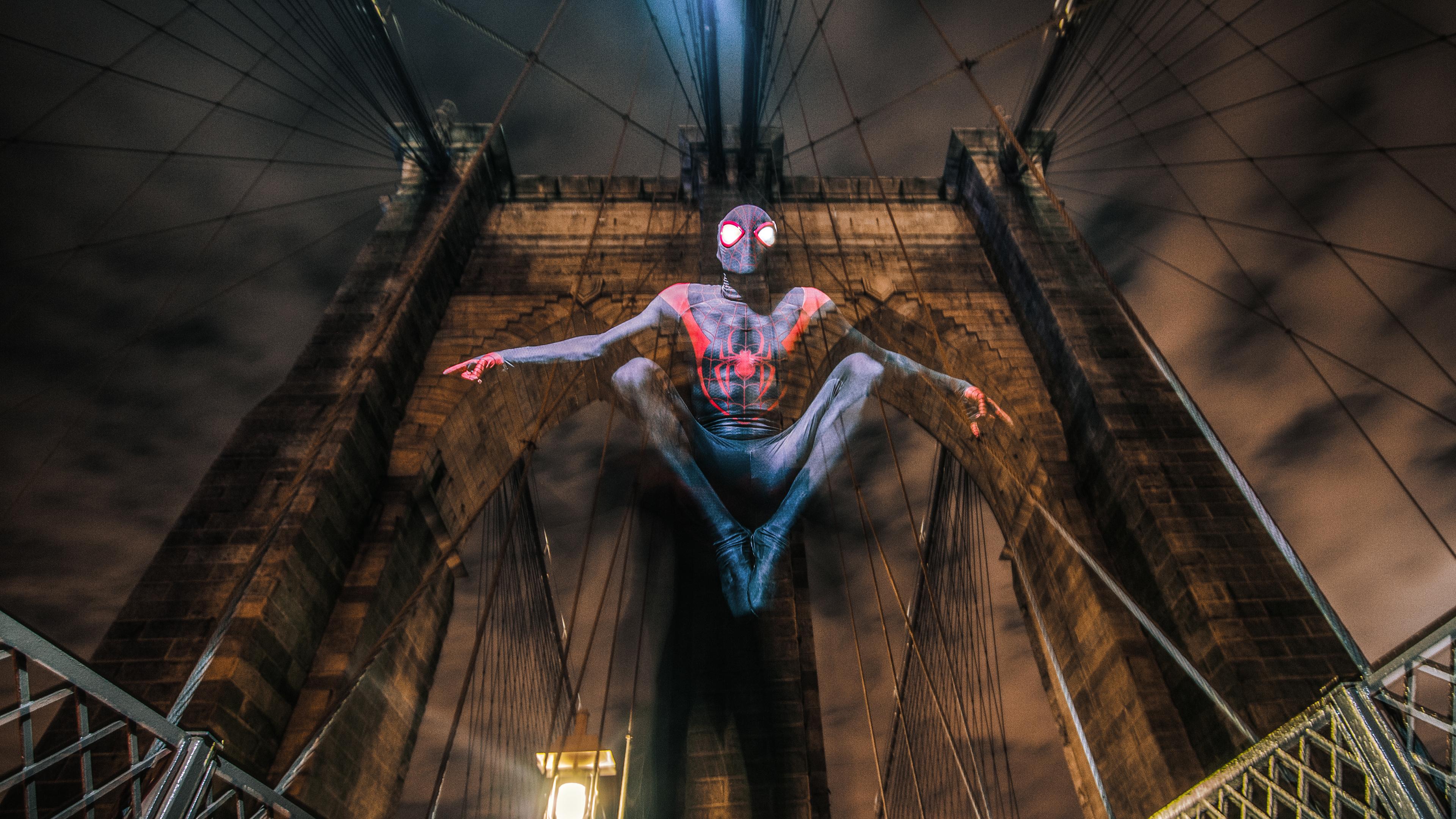 spider miles morales cosplay 4k 1544923022 - Spider Miles Morales Cosplay 4k - superheroes wallpapers, spiderman into the spider verse wallpapers, hd-wallpapers, digital art wallpapers, cosplay wallpapers, behance wallpapers, artwork wallpapers, artist wallpapers, 4k-wallpapers