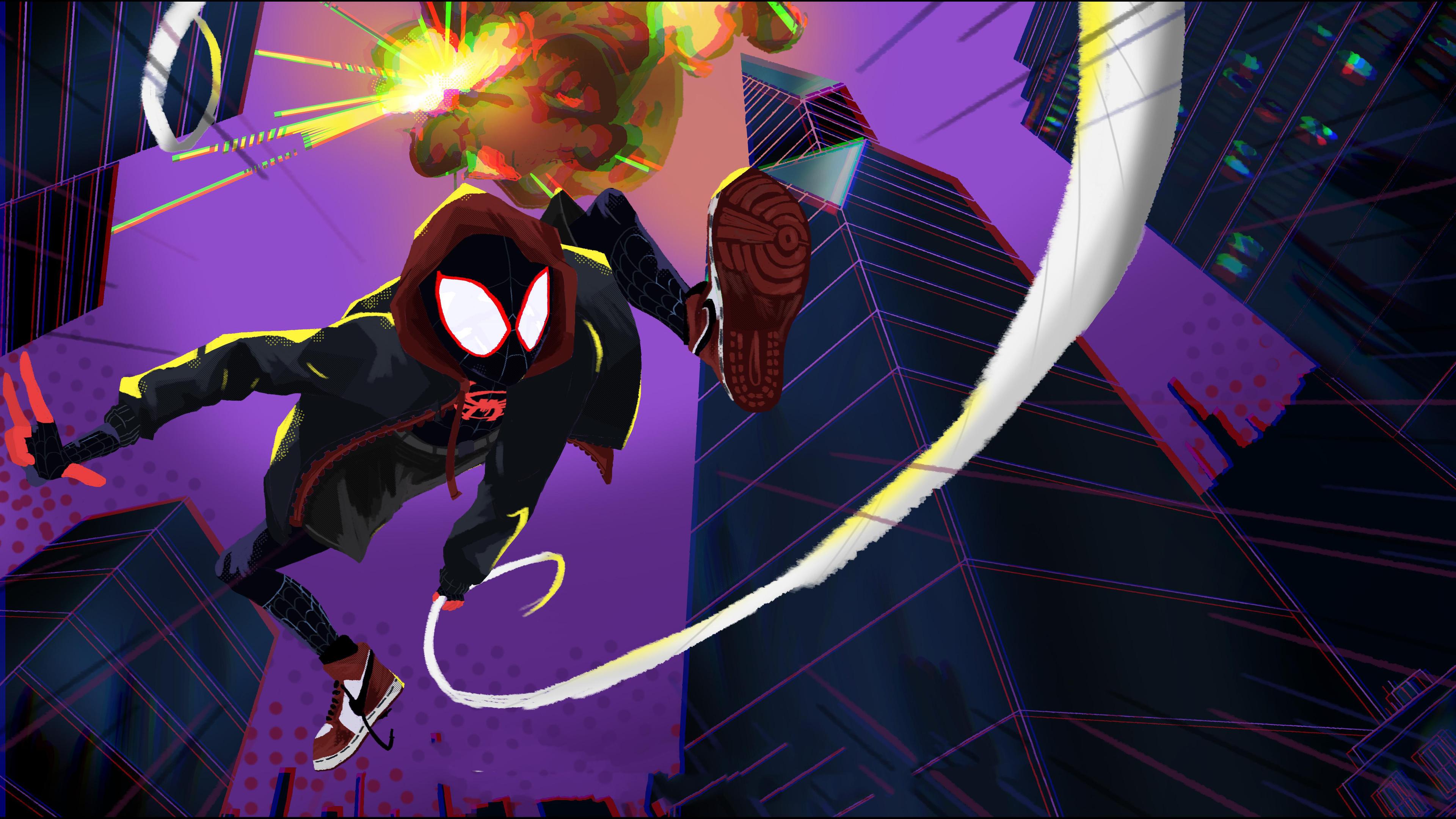 Spiderman Miles Morales Art 4k superheroes wallpapers ...