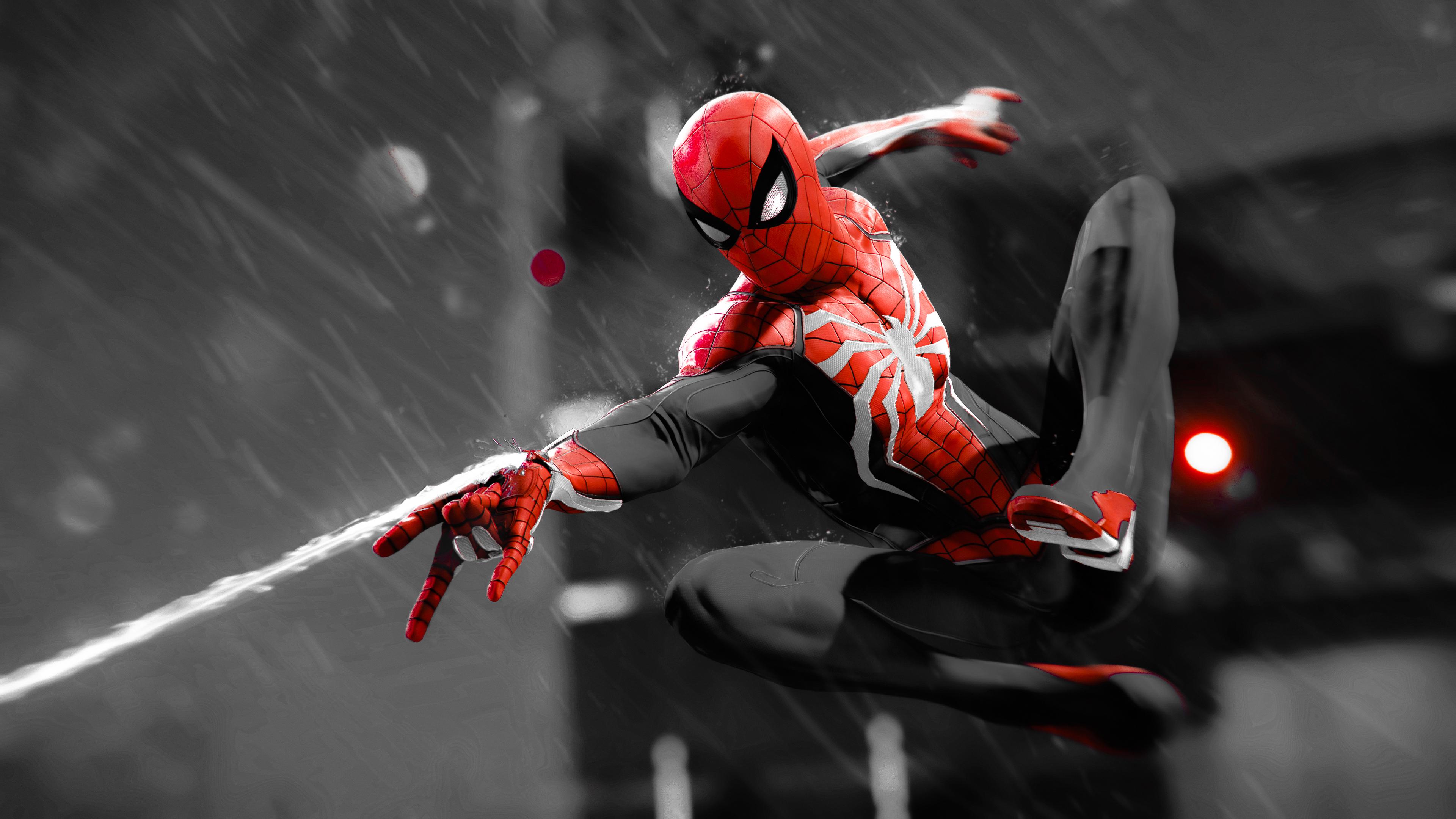 spiderman monochrome 4k 1544923157 - Spiderman Monochrome 4K - superheroes wallpapers, spiderman wallpapers, hd-wallpapers, digital art wallpapers, behance wallpapers, artwork wallpapers, 4k-wallpapers