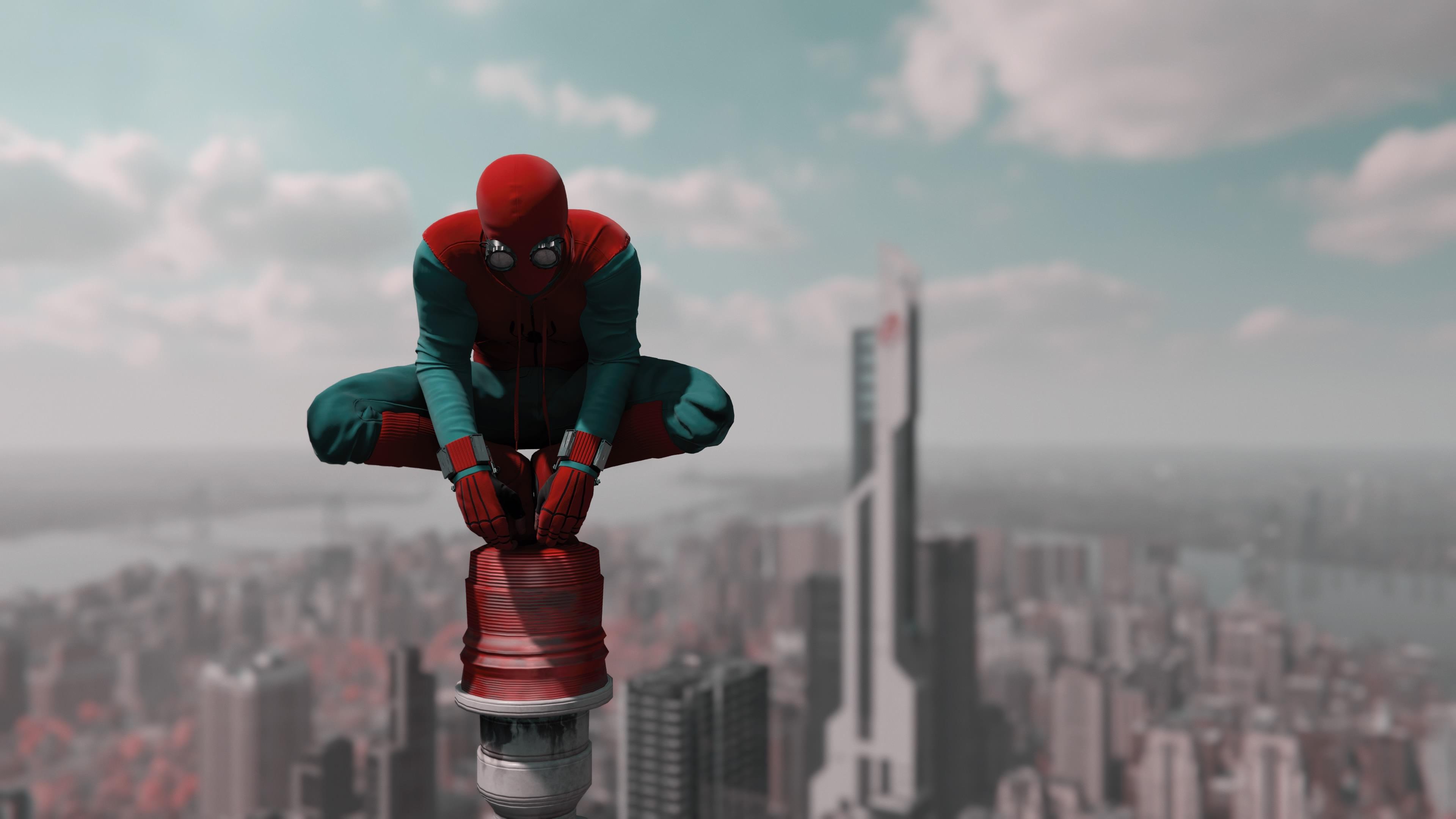 spiderman new 4k 2018 1544286626 - Spiderman New 4k 2018 - superheroes wallpapers, spiderman wallpapers, hd-wallpapers, digital art wallpapers, artwork wallpapers, art wallpapers, 4k-wallpapers