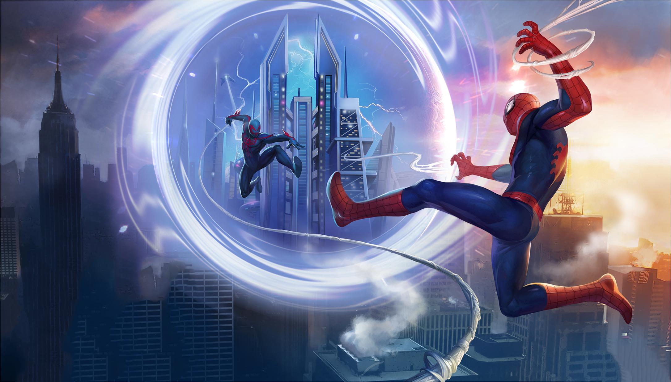 spiderman unlimited iilustration 4k 1544923251 - SpiderMan Unlimited IIlustration 4k - superheroes wallpapers, spiderman wallpapers, hd-wallpapers, digital art wallpapers, behance wallpapers, artwork wallpapers