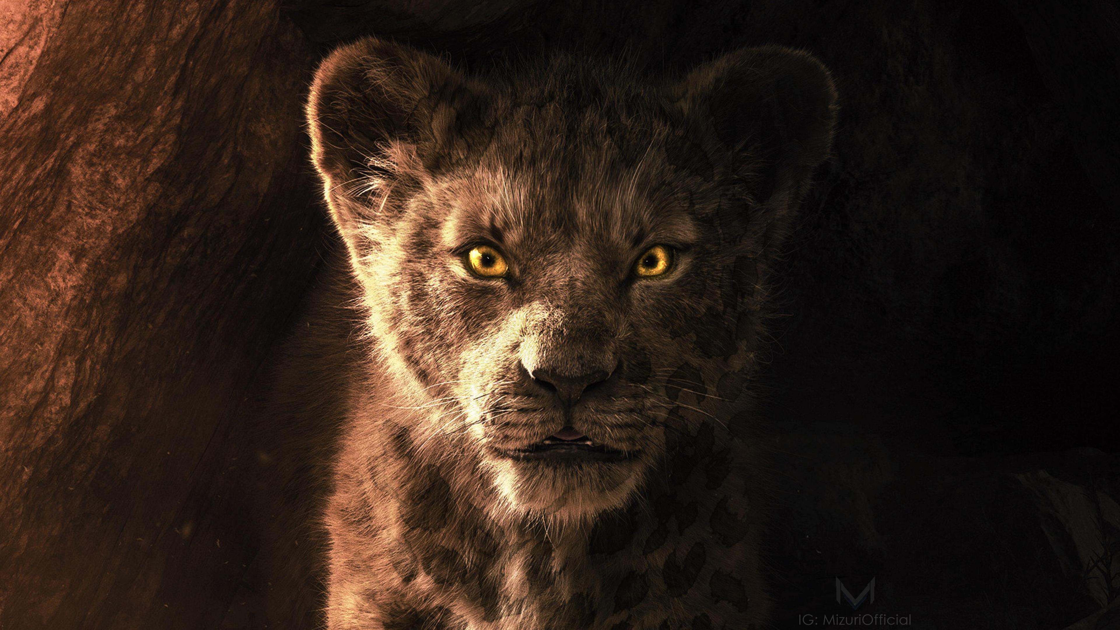 the lion king simba 9e 3840x2160 - The Lion King Simba 2019 4k - The lion king movie wallpapers hd 4k, Simba hd 4k wallpapers, Lion king simba hd 4k wallpapers