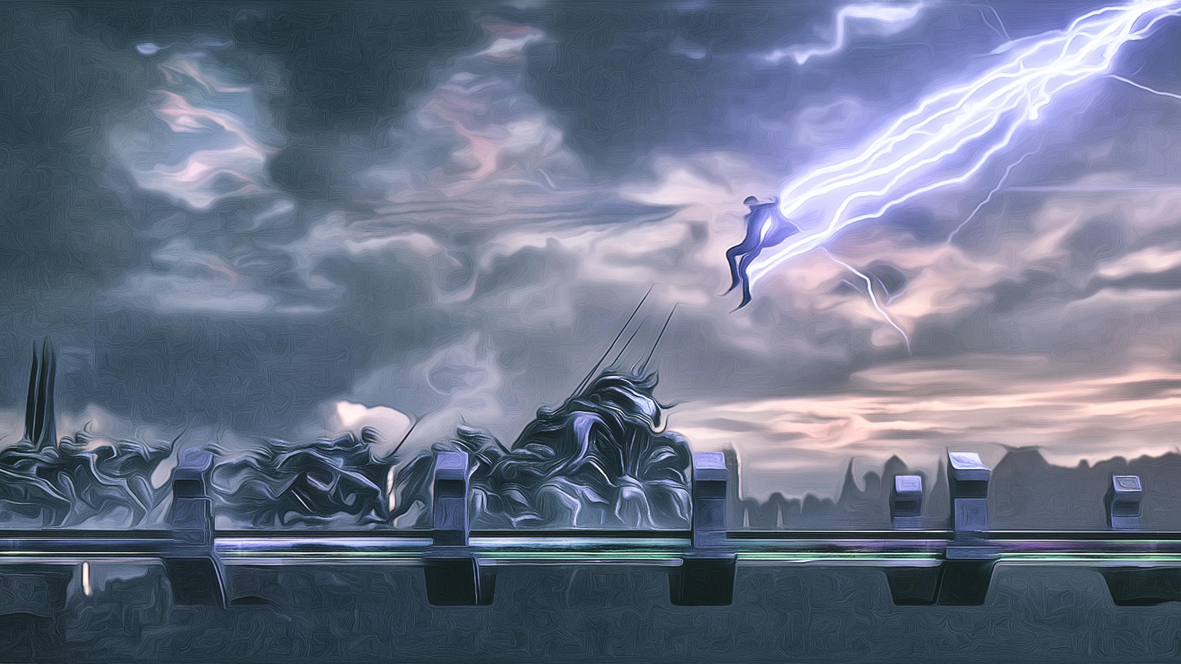 thor god of thunder 4k artwork 1544923182 - Thor God Of Thunder 4K Artwork - thor wallpapers, thor ragnarok wallpapers, hd-wallpapers, digital art wallpapers, deviantart wallpapers, 4k-wallpapers