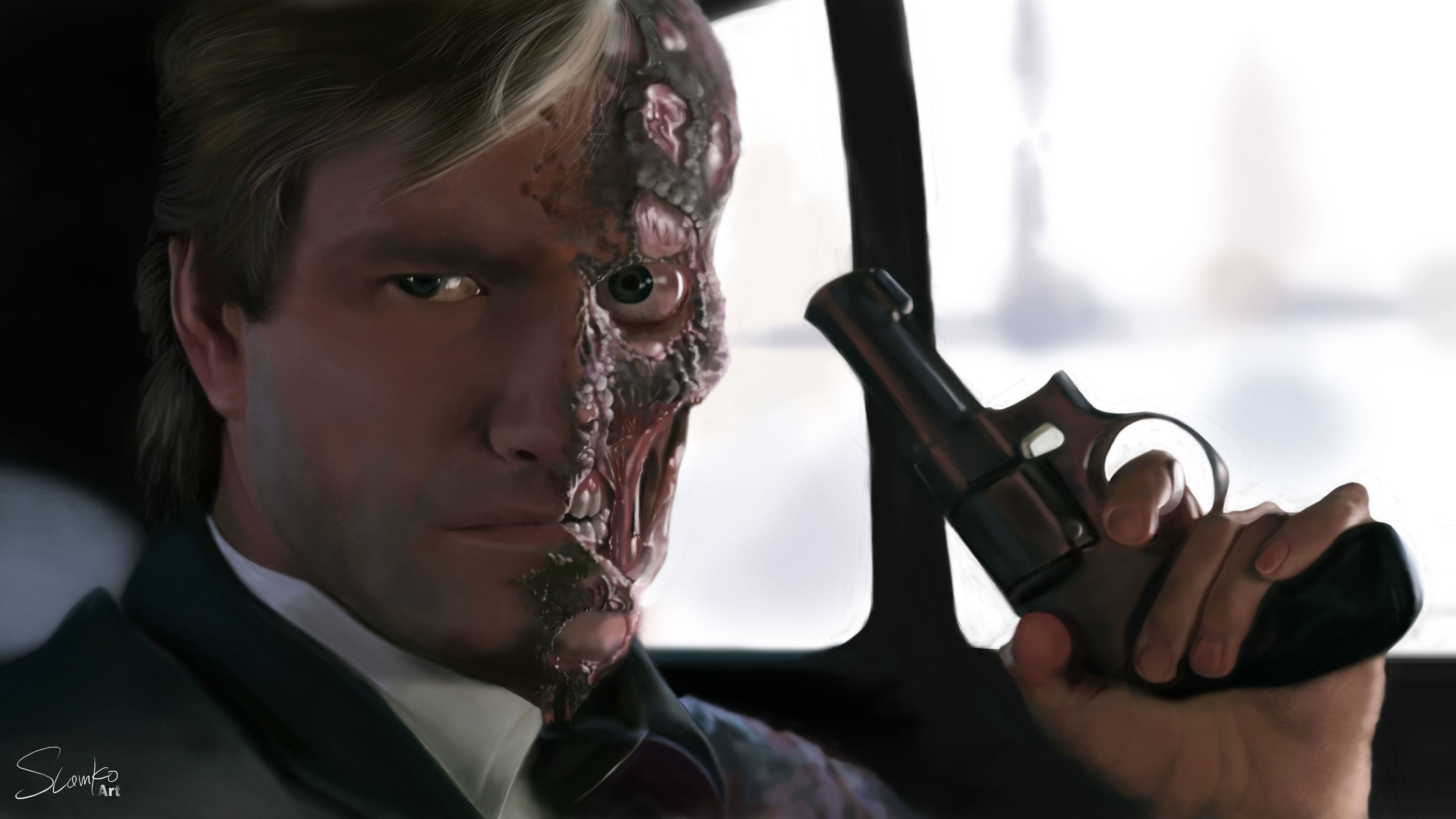 two face supervillain 4k 1545588610 - Two Face Supervillain 4k - two face wallpapers, supervillain wallpapers, superheroes wallpapers, hd-wallpapers, digital art wallpapers, artwork wallpapers, 5k wallpapers, 4k-wallpapers