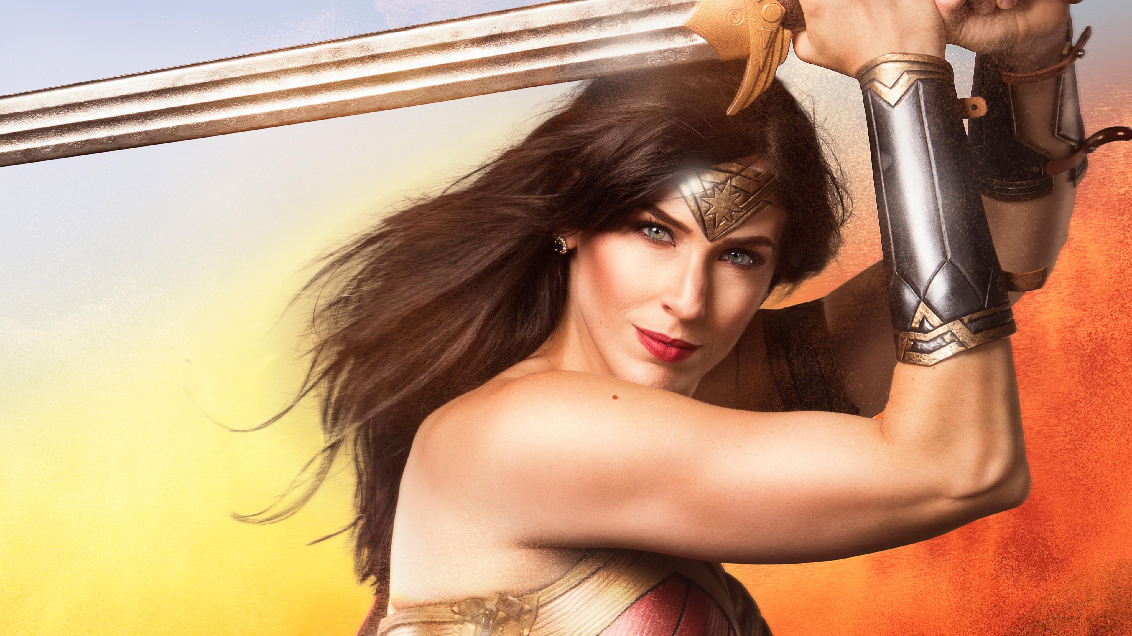 wonder woman with sword cosplay 4k 1544286890 - Wonder Woman With Sword Cosplay 4k - wonder woman wallpapers, superheroes wallpapers, hd-wallpapers, cosplay wallpapers, 4k-wallpapers