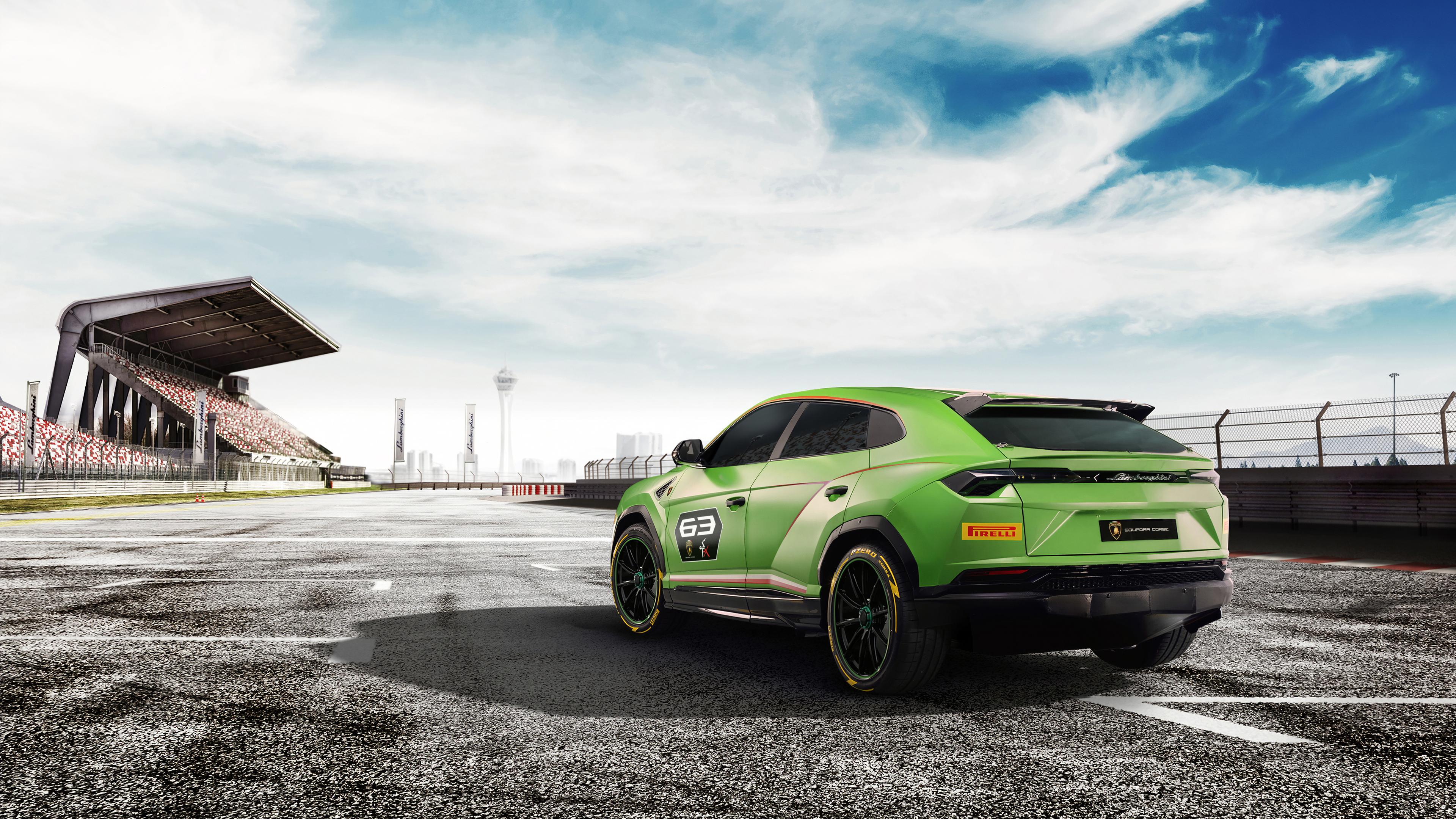 Wallpaper 4k 2018 Lamborghini Urus St X Concept Rear 4k 2018 Cars
