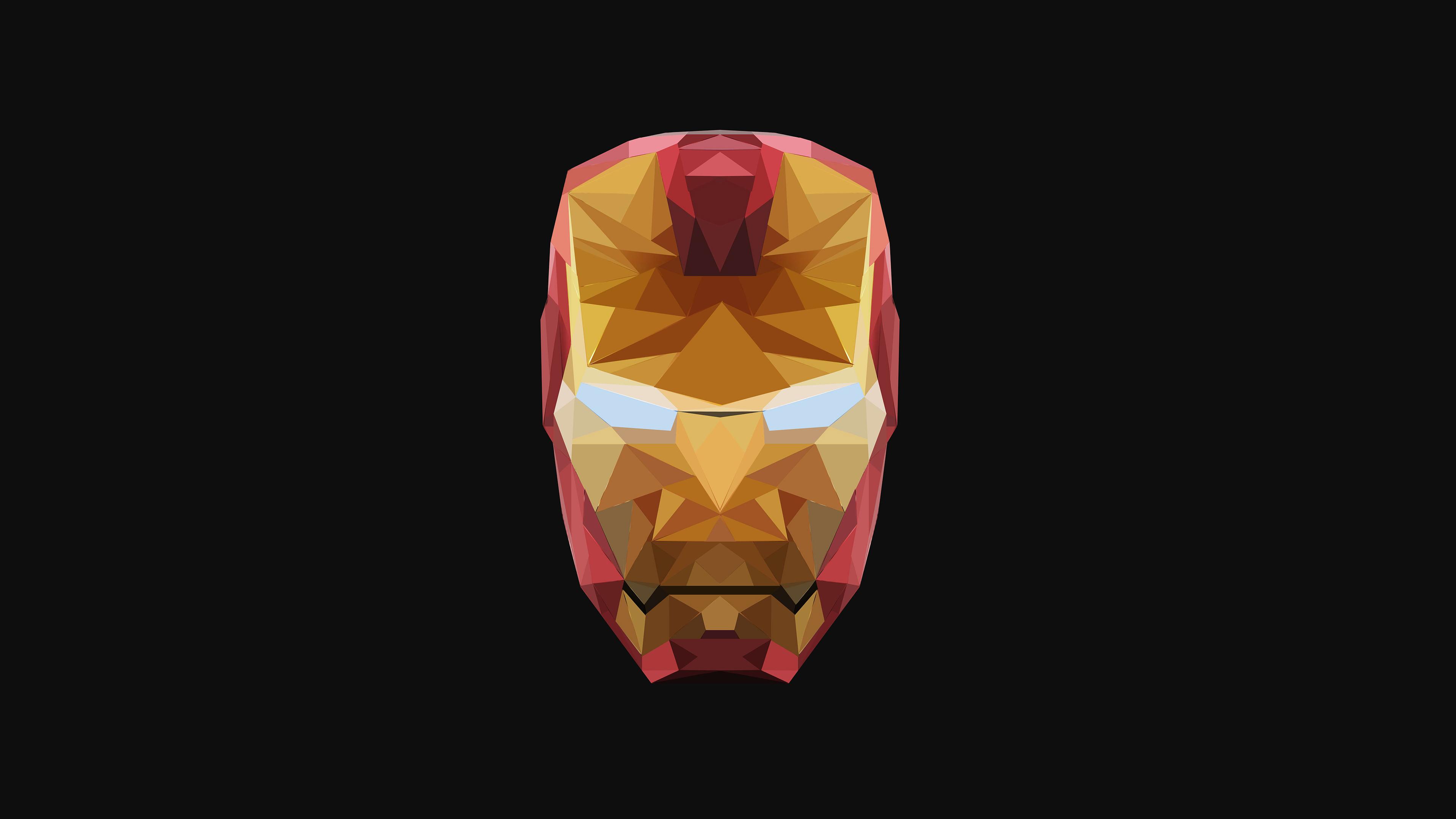 4k iron man low poly 1547506416 - 4k Iron Man Low Poly - superheroes wallpapers, low poly wallpapers, iron man wallpapers, hd-wallpapers, behance wallpapers, 4k-wallpapers