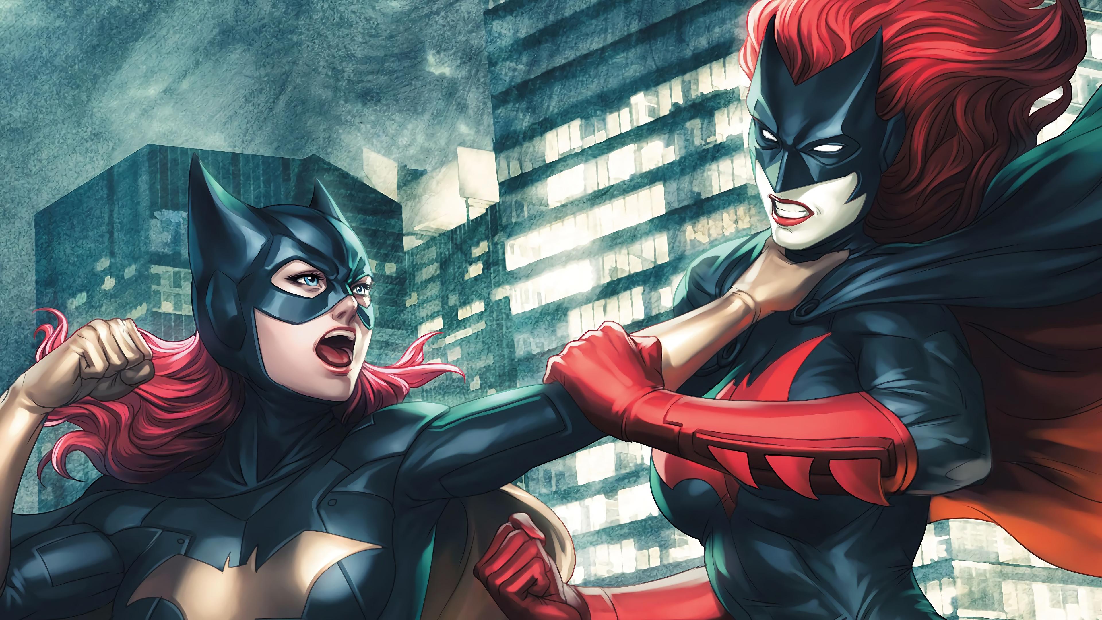 batgirl vs batwoman fight 4k 1547936626 - Batgirl Vs Batwoman Fight 4k - superheroes wallpapers, hd-wallpapers, digital art wallpapers, batwoman wallpapers, batgirl wallpapers, artwork wallpapers, artist wallpapers, 4k-wallpapers