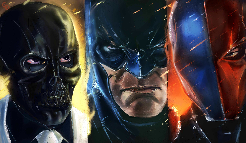 batman deathstroke and villain 4k 1548527319 - Batman Deathstroke And Villain 4k - supervillain wallpapers, superheroes wallpapers, hd-wallpapers, deathstroke wallpapers, batman wallpapers, artwork wallpapers, 5k wallpapers, 4k-wallpapers