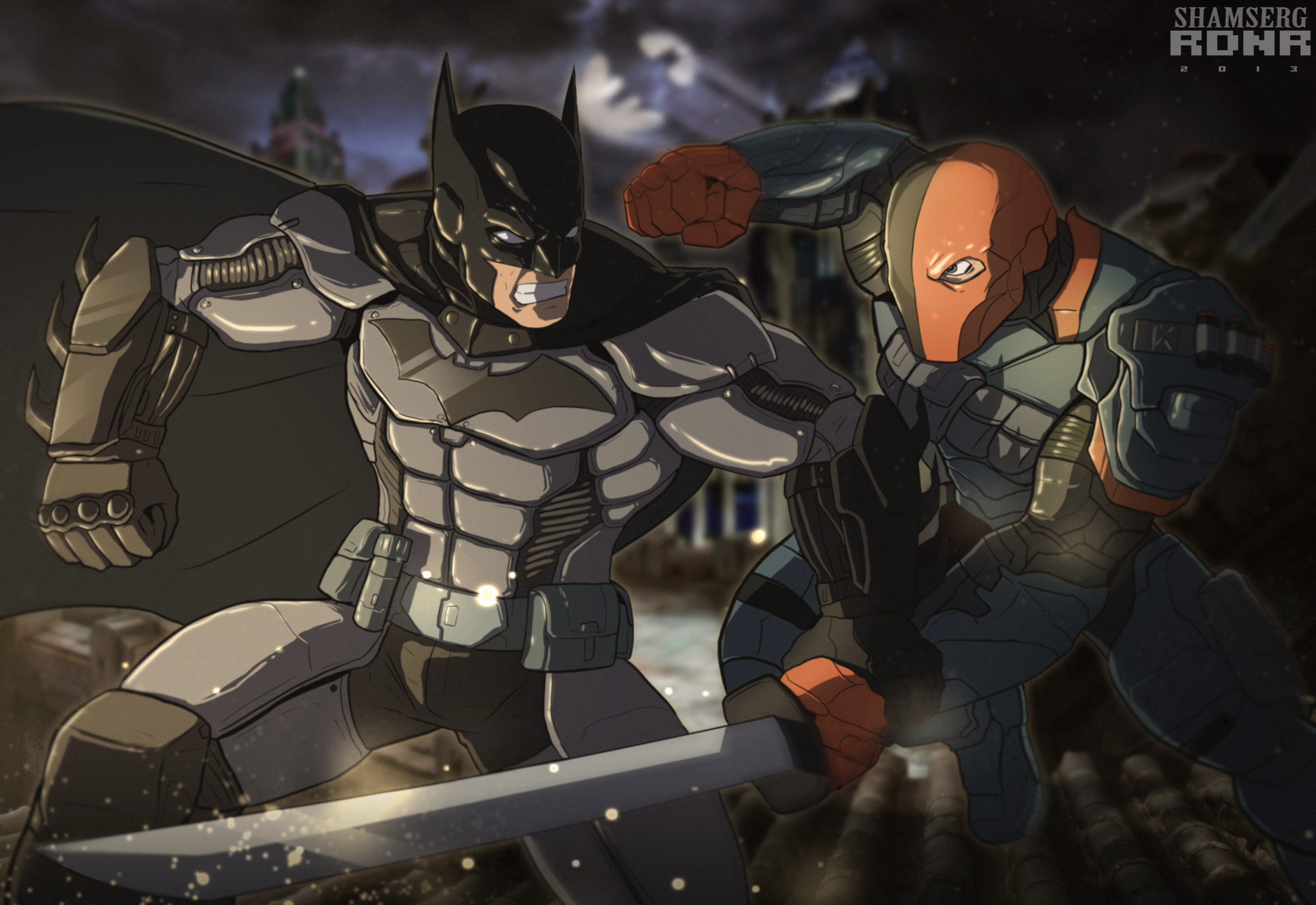 batman vs deathstroke artwork 4k 1548527193 - Batman Vs Deathstroke Artwork 4k - supervillain wallpapers, superheroes wallpapers, hd-wallpapers, deviantart wallpapers, deathstroke wallpapers, batman wallpapers, artwork wallpapers
