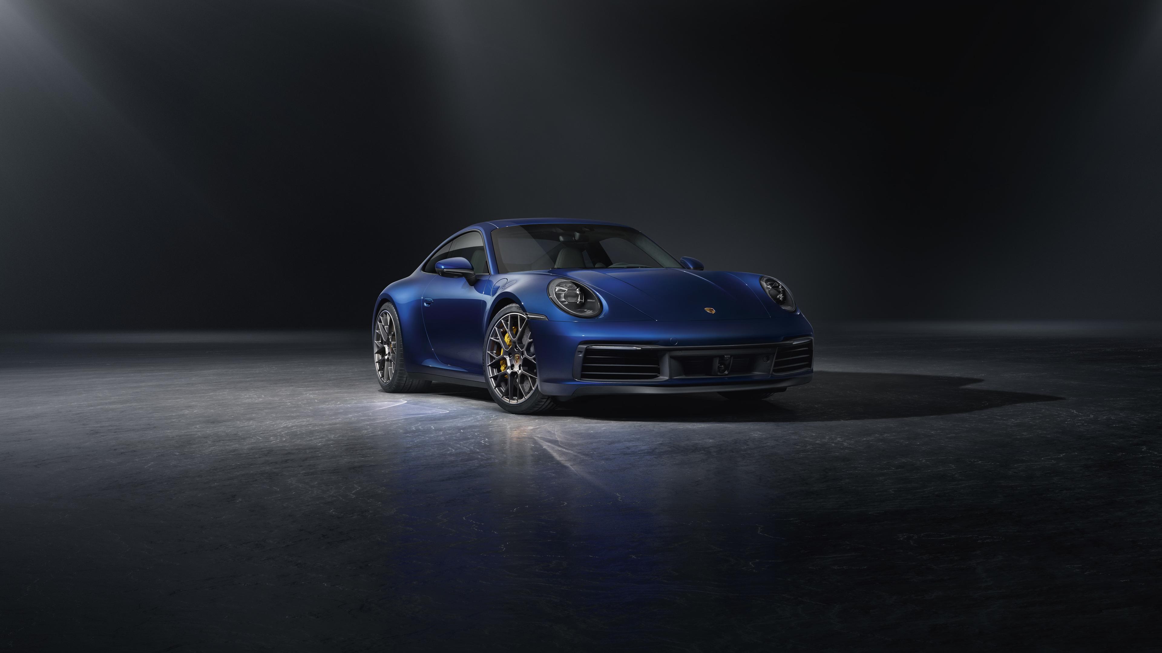 blue porsche 911 2018 front 4k 1546362104 - Blue Porsche 911 2018 Front 4k - porsche wallpapers, porsche 911 wallpapers, hd-wallpapers, cars wallpapers, 5k wallpapers, 4k-wallpapers