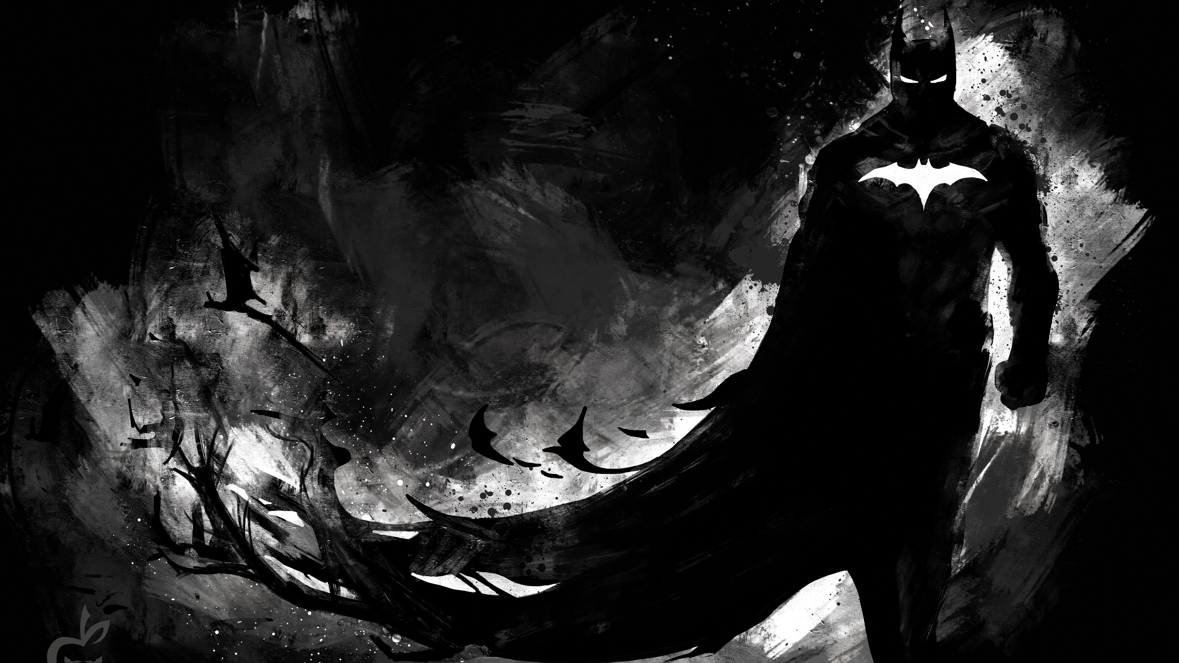 dark knight monochrome 4k 1547936607 - Dark Knight Monochrome 4k - superheroes wallpapers, hd-wallpapers, digital art wallpapers, batman wallpapers, artwork wallpapers, artist wallpapers, 5k wallpapers, 4k-wallpapers