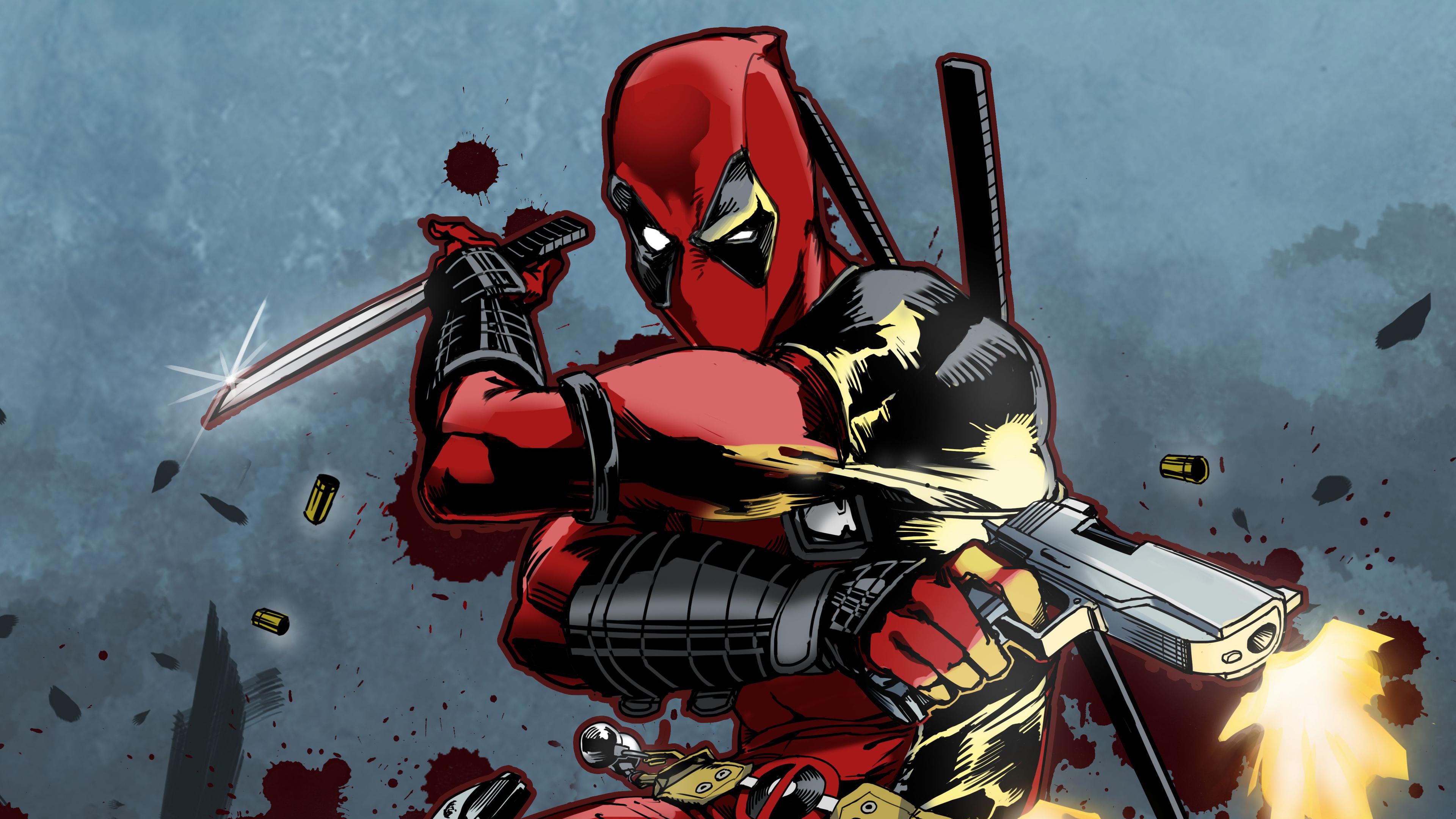 2048x2048 Deadpool 2 Movie Poster 4k Ipad Air Hd 4k: Deadpool New Art 4k Superheroes Wallpapers, Hd-wallpapers
