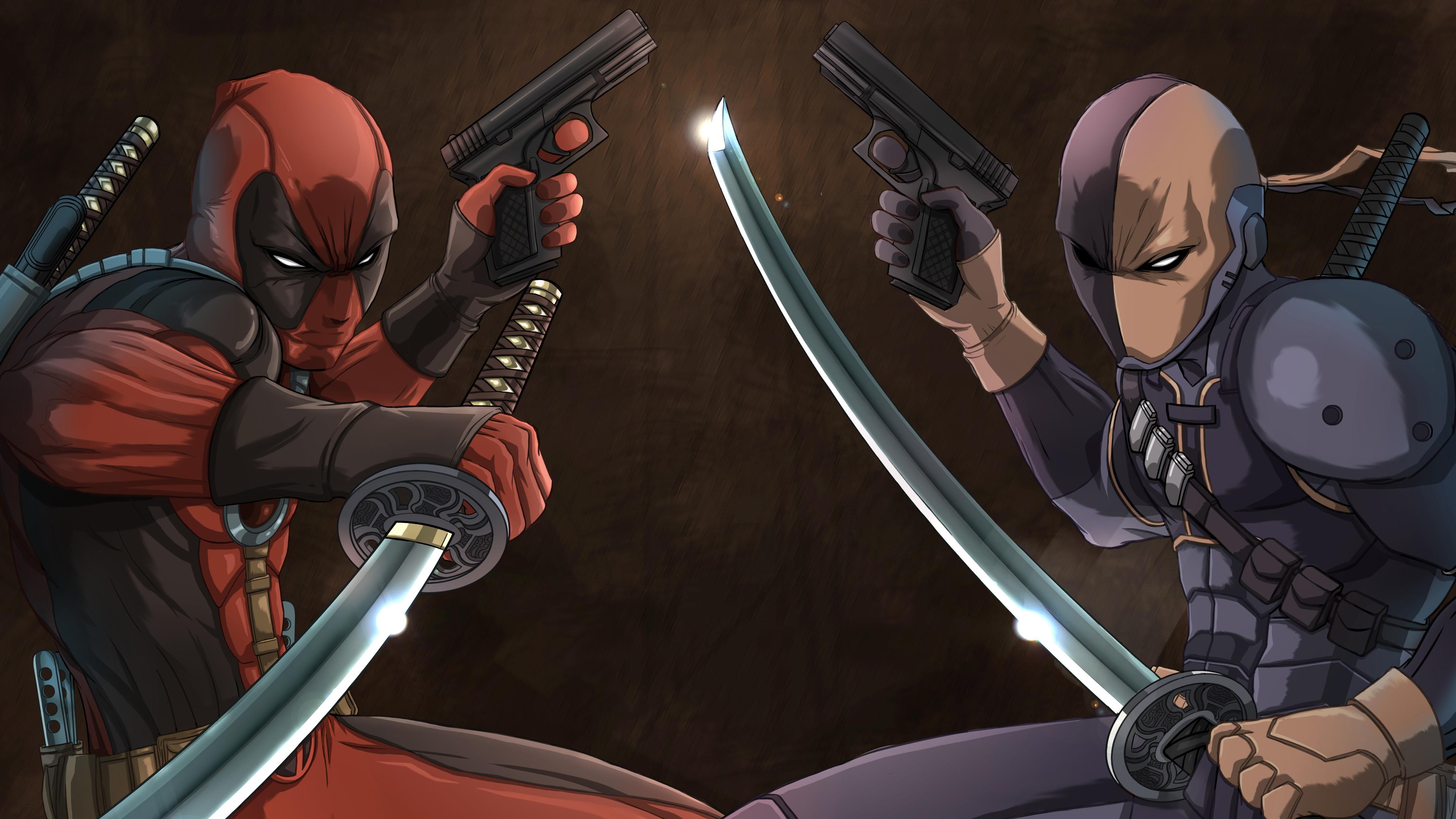deadpool vs deathstroke 4k 1548527189 - Deadpool Vs Deathstroke 4k - superheroes wallpapers, hd-wallpapers, digital art wallpapers, deviantart wallpapers, deathstroke wallpapers, deadpool wallpapers, artwork wallpapers, 4k-wallpapers