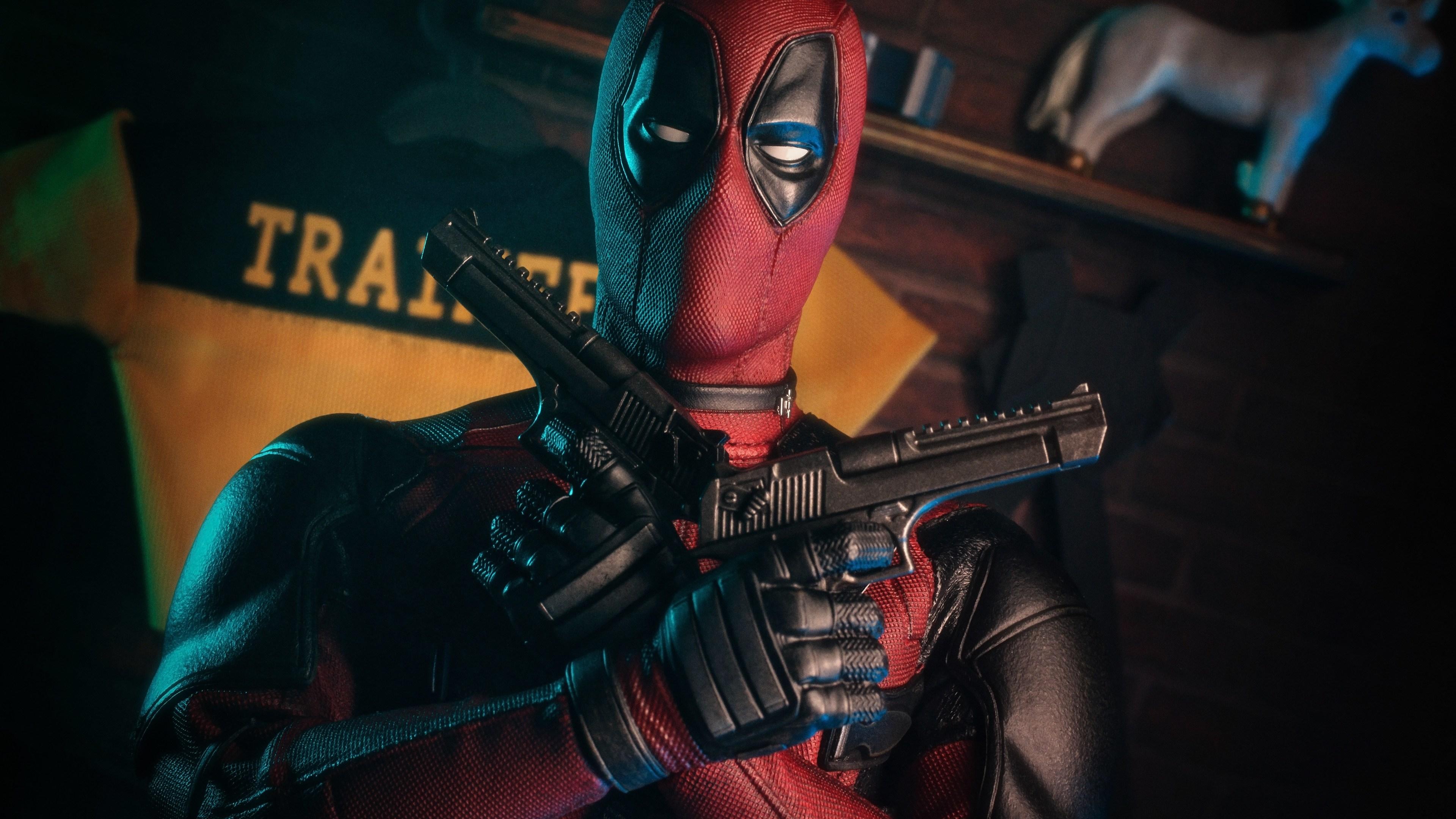 deadpool with guns 4k 1547936608 - Deadpool With Guns 4k - superheroes wallpapers, hd-wallpapers, deadpool wallpapers, 5k wallpapers, 4k-wallpapers