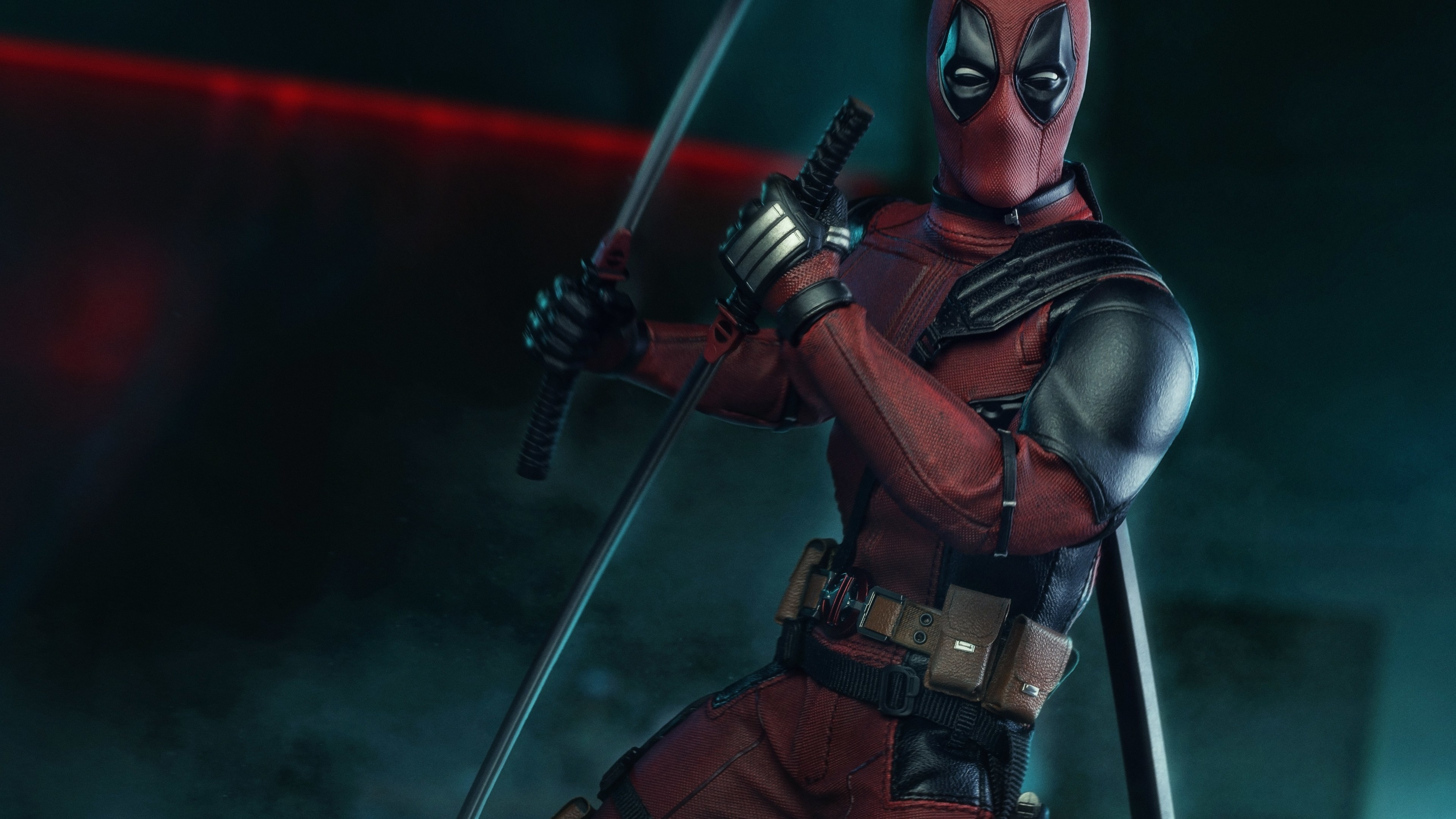 deadpool with swords 4k 1547319666 - Deadpool With Swords 4k - superheroes wallpapers, hd-wallpapers, deadpool wallpapers, 4k-wallpapers