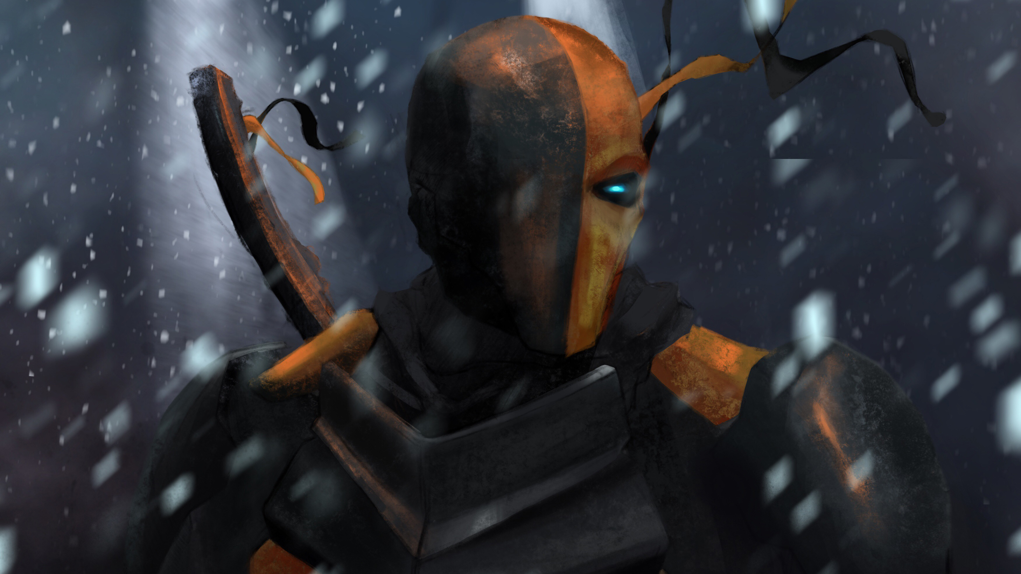 deathstroke 4k art 1548527195 - Deathstroke 4k Art - superheroes wallpapers, hd-wallpapers, digital art wallpapers, deathstroke wallpapers, dc comics wallpapers, artwork wallpapers, artist wallpapers, 4k-wallpapers