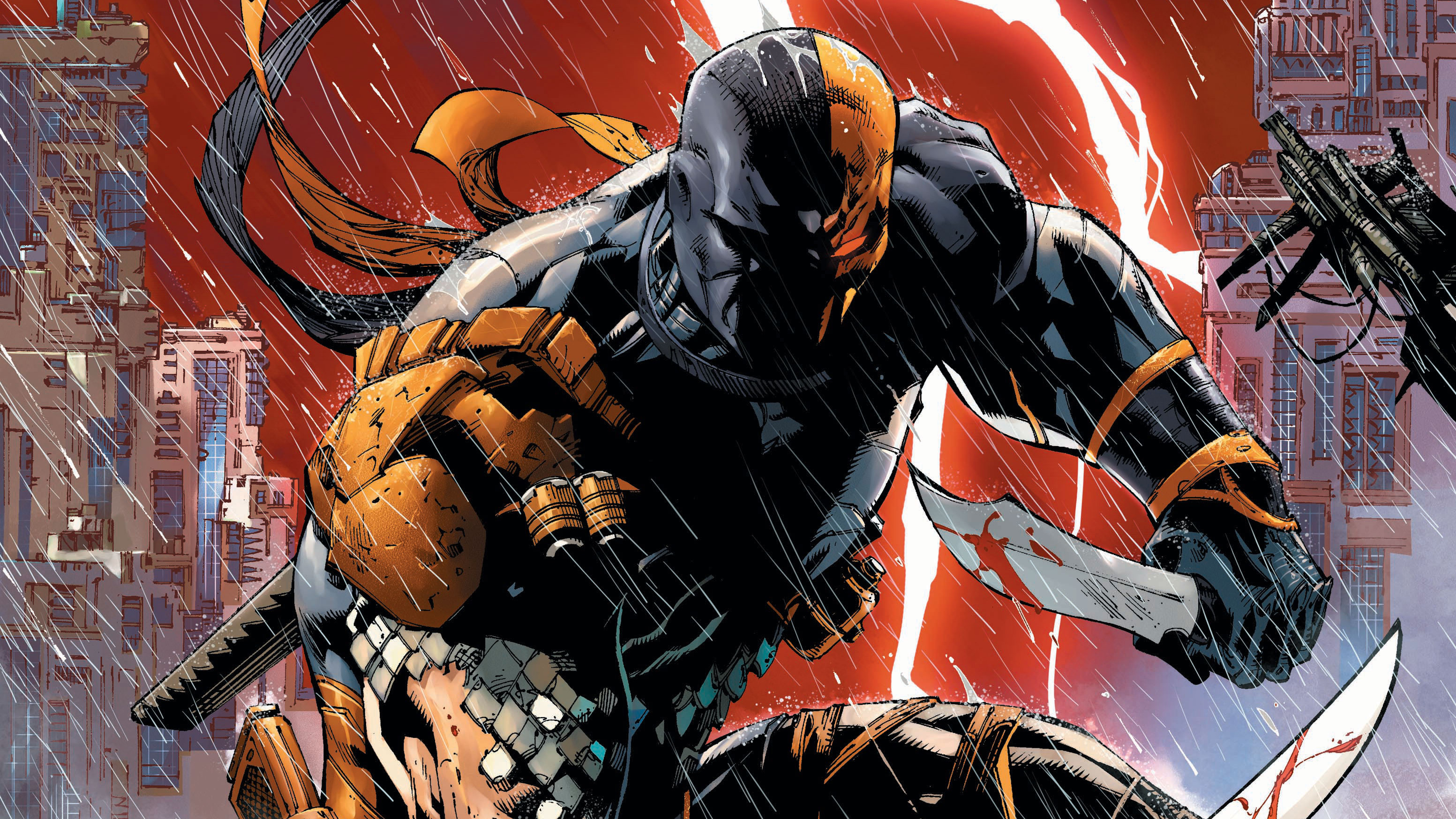 deathstroke comic artwork 4k 1548527305 - Deathstroke Comic Artwork 4k - supervillain wallpapers, hd-wallpapers, fictional character wallpapers, digital art wallpapers, deathstroke wallpapers, artwork wallpapers, artist wallpapers