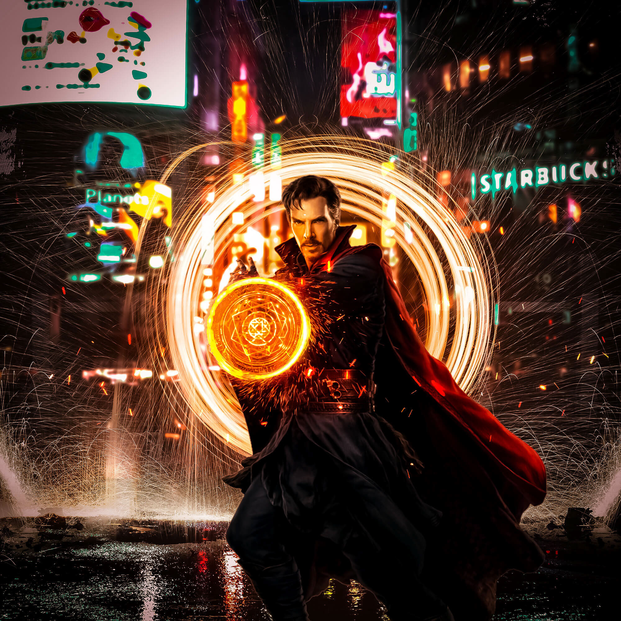 doctor strange opening portal art 4k 1547506655 - Doctor Strange Opening Portal Art 4k - superheroes wallpapers, hd-wallpapers, doctor strange wallpapers, digital art wallpapers, behance wallpapers, artwork wallpapers