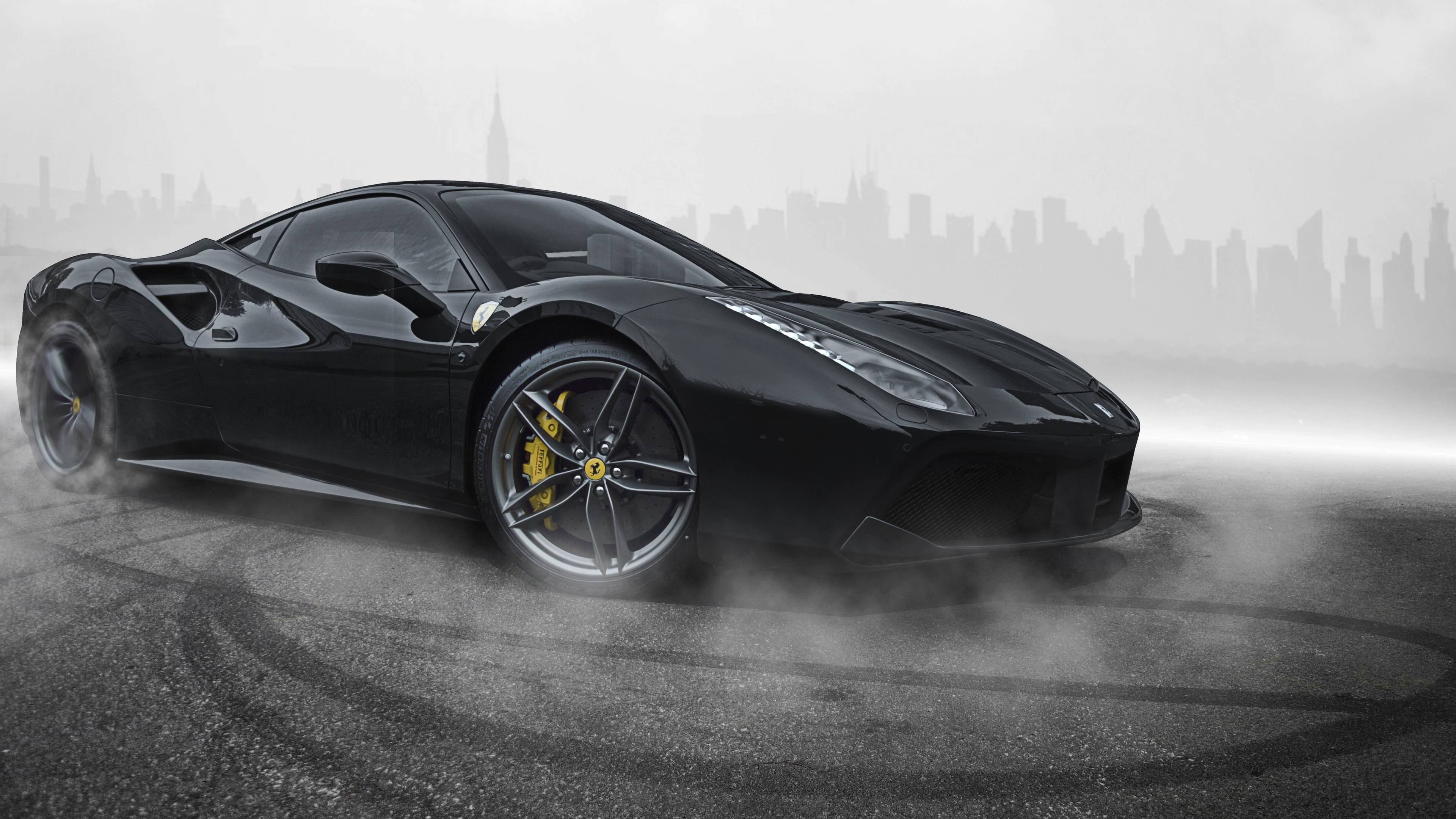 ferrari 488 black 4k 1546362099 - Ferrari 488 Black 4k - hd-wallpapers, ferrari wallpapers, ferrari 488 wallpapers, cars wallpapers, 5k wallpapers, 4k-wallpapers