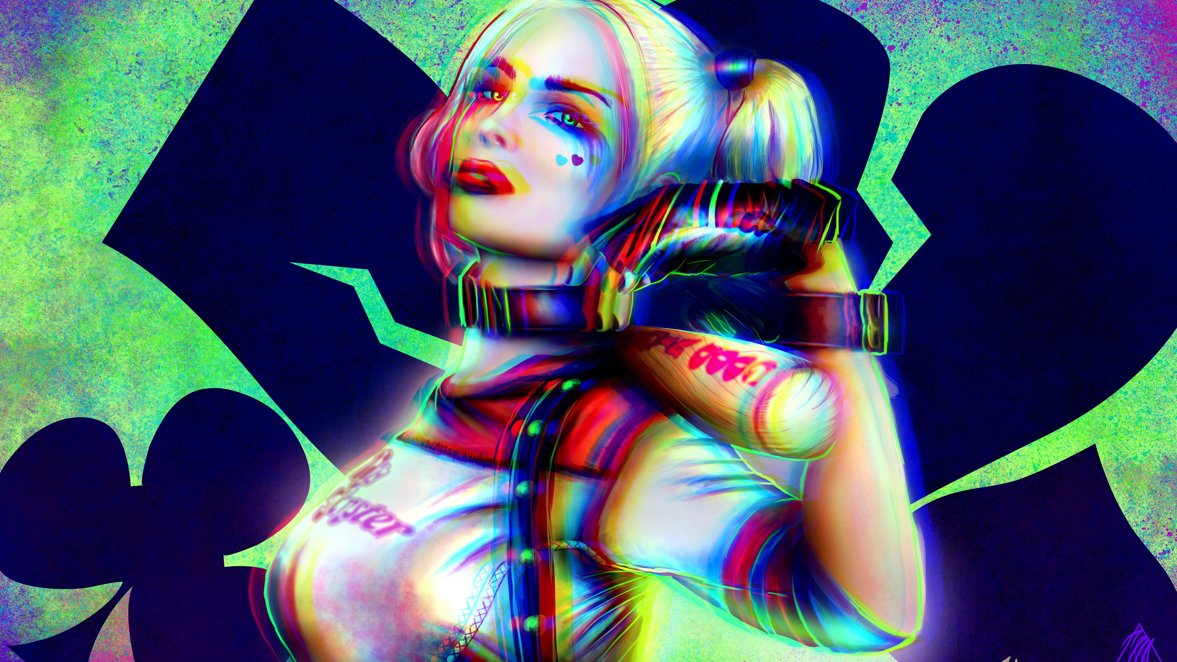 harley quinn new 4k 1547936487 - Harley Quinn New 4k - superheroes wallpapers, hd-wallpapers, harley quinn wallpapers, digital art wallpapers, behance wallpapers, artwork wallpapers
