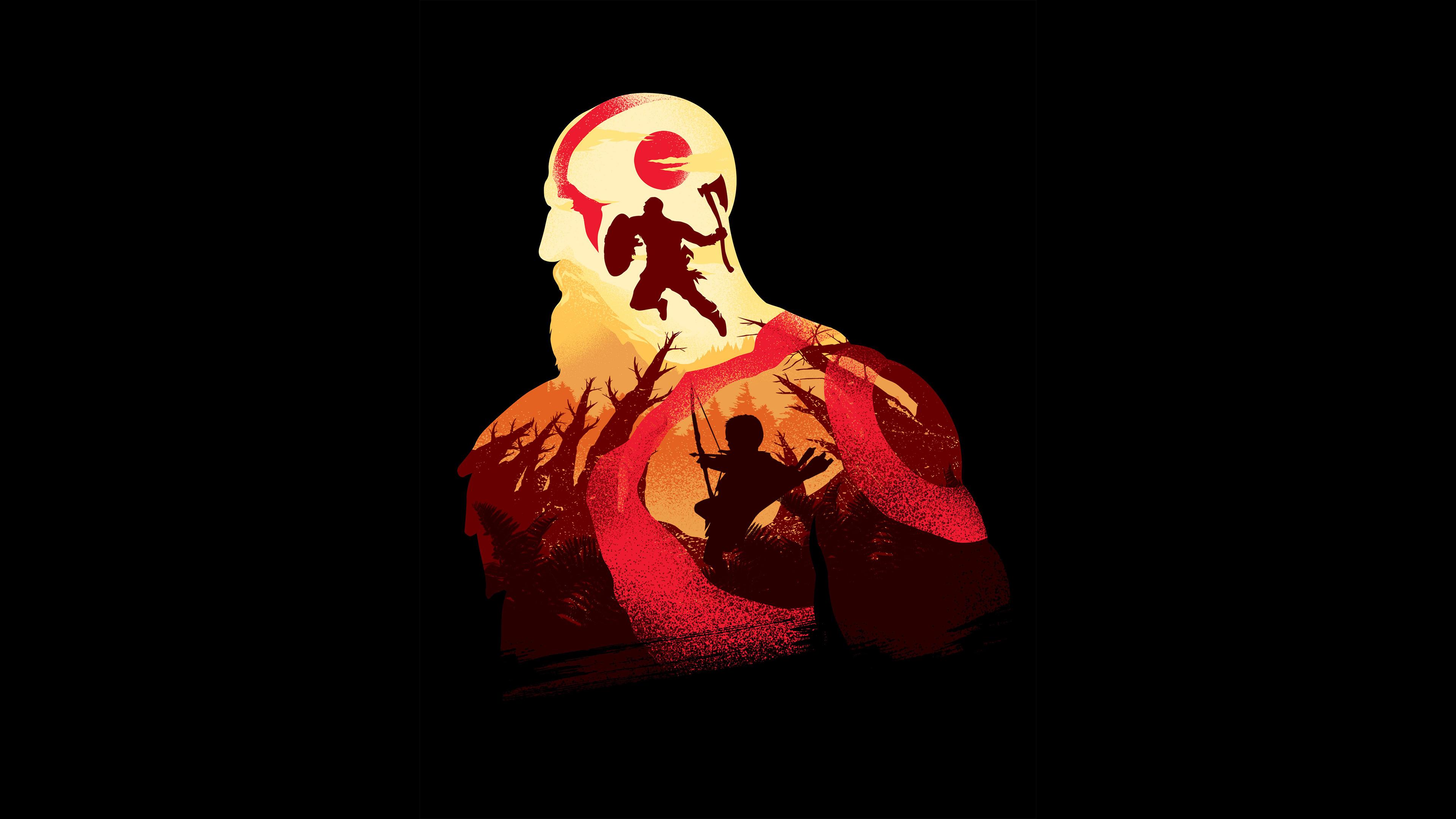 kratos in god of war 4k minimalism 1547319361 - Kratos In God Of War 4K Minimalism - ps games wallpapers, minimalism wallpapers, kratos wallpapers, hd-wallpapers, god of war wallpapers, god of war 4 wallpapers, games wallpapers, 4k-wallpapers