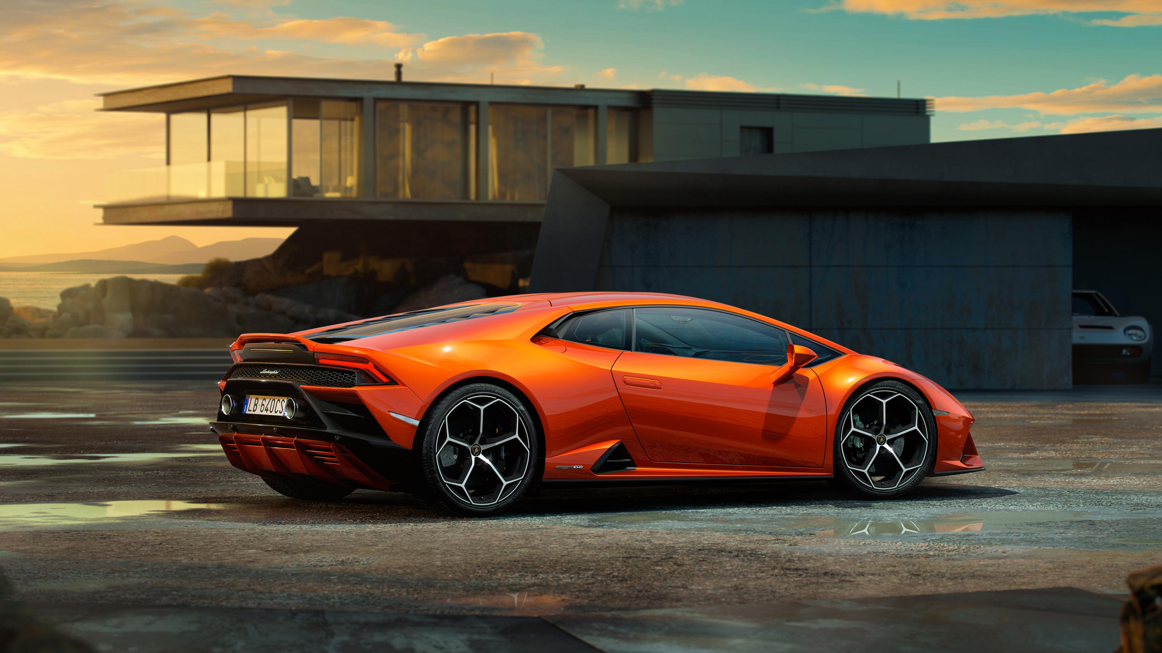 Wallpaper 4k Lamborghini Huracan Evo 2019 Side View 4k 4k Wallpapers