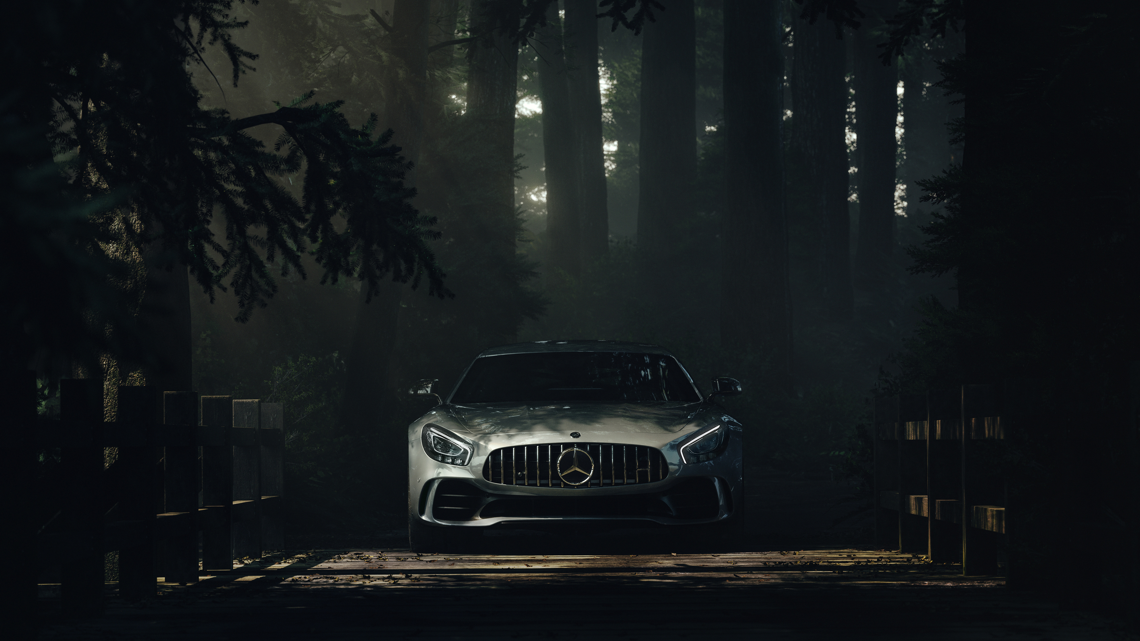 mercedes benz amg gt forest 4k 1547936810 - Mercedes Benz Amg GT Forest 4k - mercedes wallpapers, mercedes amg gtr wallpapers, hd-wallpapers, cars wallpapers, behance wallpapers, 4k-wallpapers, 2018 cars wallpapers
