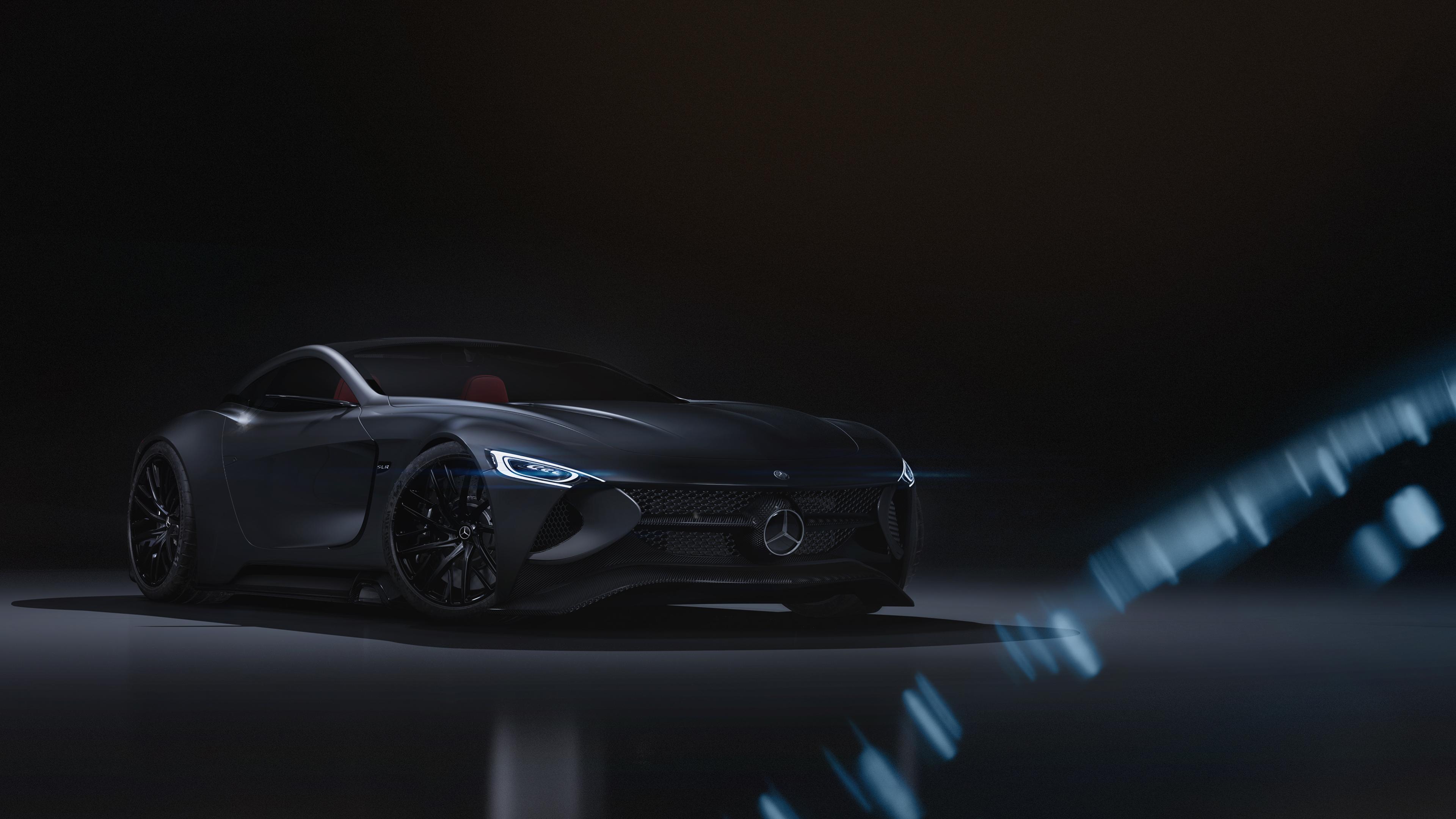 mercedes slr vision design 4k 1546362265 - Mercedes SLR Vision Design 4k - mercedes benz wallpapers, hd-wallpapers, cars wallpapers, behance wallpapers, 4k-wallpapers