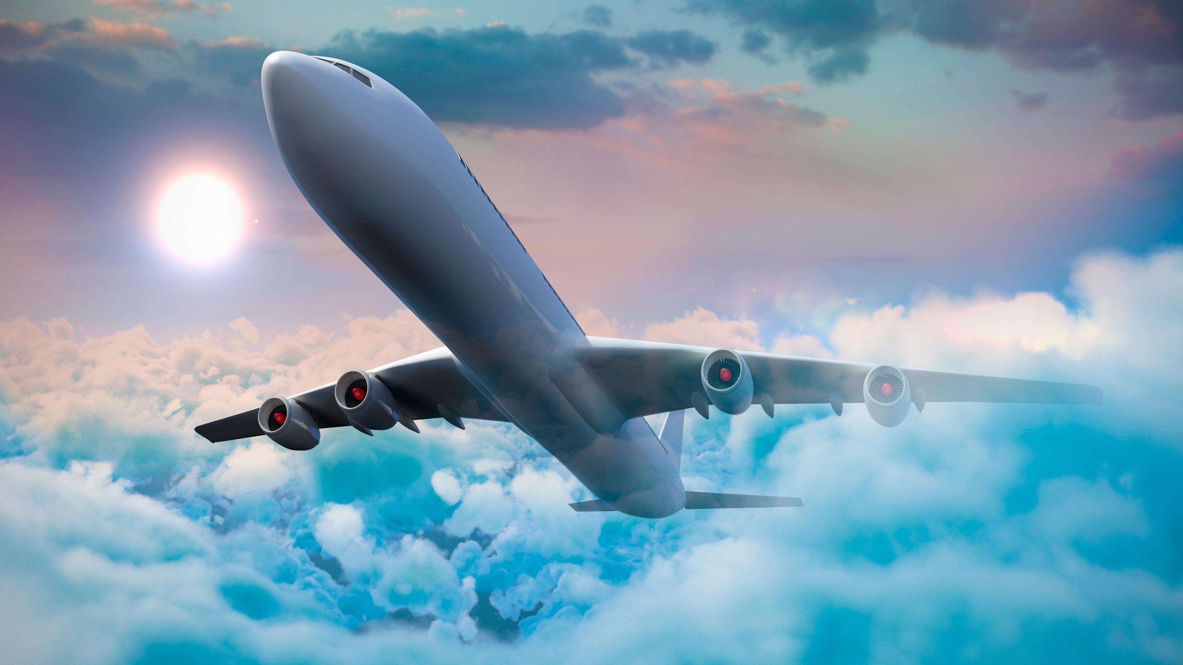 passenger airplanes clouds 4k 1547938030 - Passenger Airplanes Clouds 4k - planes wallpapers, flight wallpapers, clouds wallpapers, airplanes wallpapers, airplane wallpapers, 5k wallpapers, 4k-wallpapers
