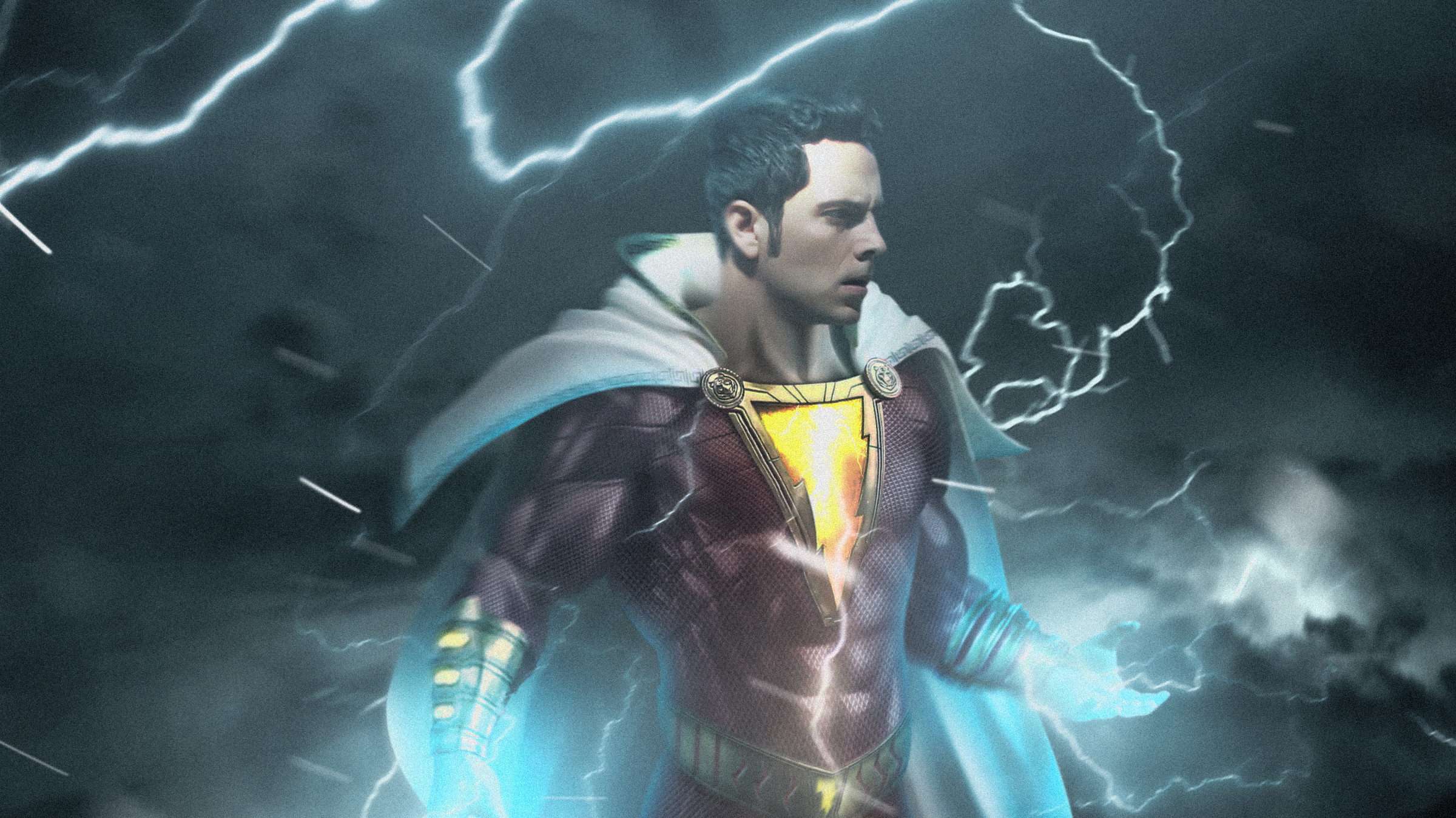 shazam 4k 1547506463 - Shazam 4k - superheroes wallpapers, shazam wallpapers, hd-wallpapers, digital art wallpapers, behance wallpapers, artwork wallpapers, artist wallpapers, 4k-wallpapers