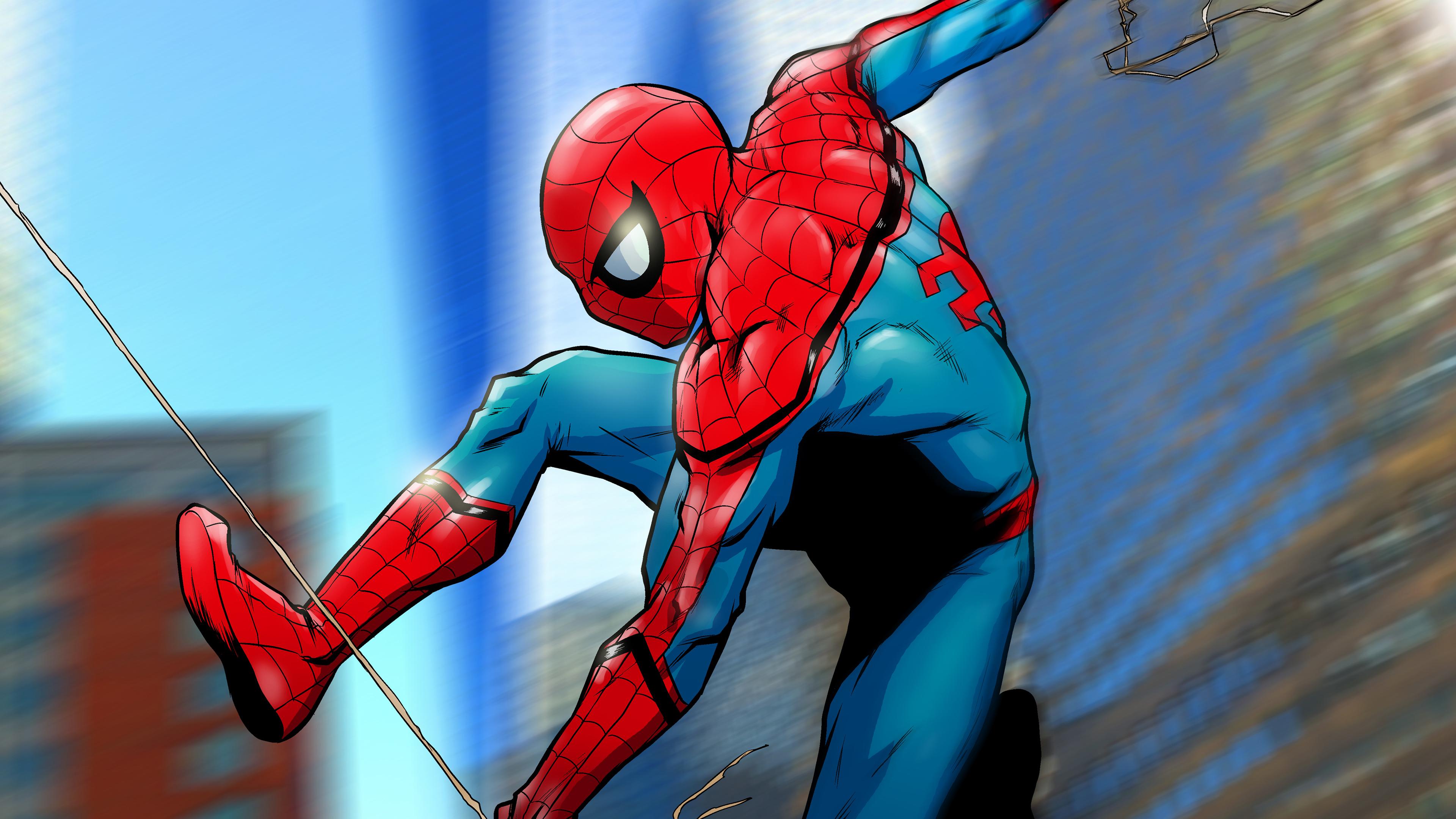 spiderman artwork 4k 1547936601 - Spiderman ArtWork 4k - superheroes wallpapers, spiderman wallpapers, hd-wallpapers, digital art wallpapers, behance wallpapers, artwork wallpapers, artist wallpapers, art wallpapers, 4k-wallpapers