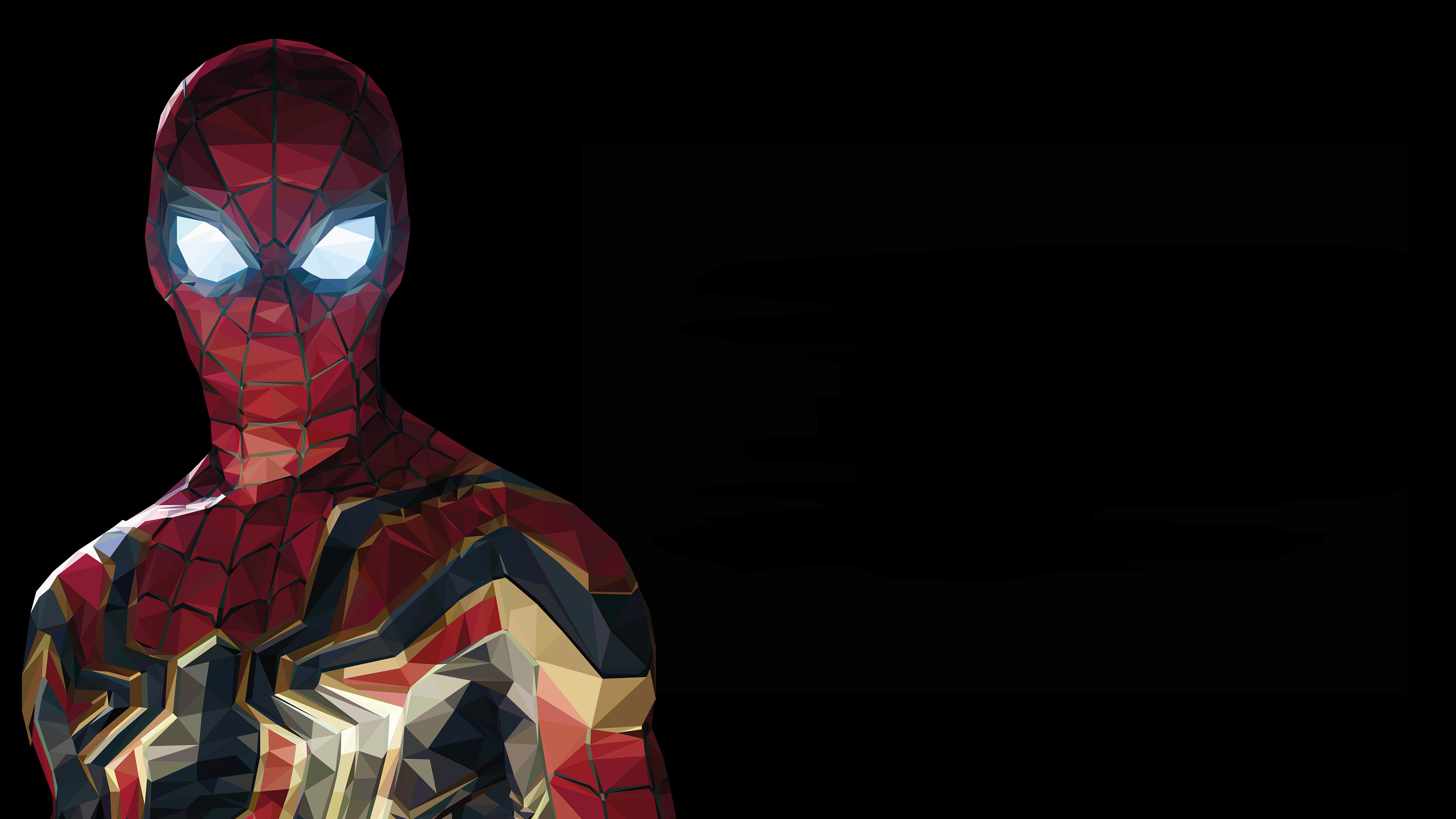 spiderman low poly 4k 1548526605 - Spiderman Low Poly 4k - superheroes wallpapers, spiderman wallpapers, hd-wallpapers, digital art wallpapers, behance wallpapers, artwork wallpapers, artist wallpapers, 4k-wallpapers